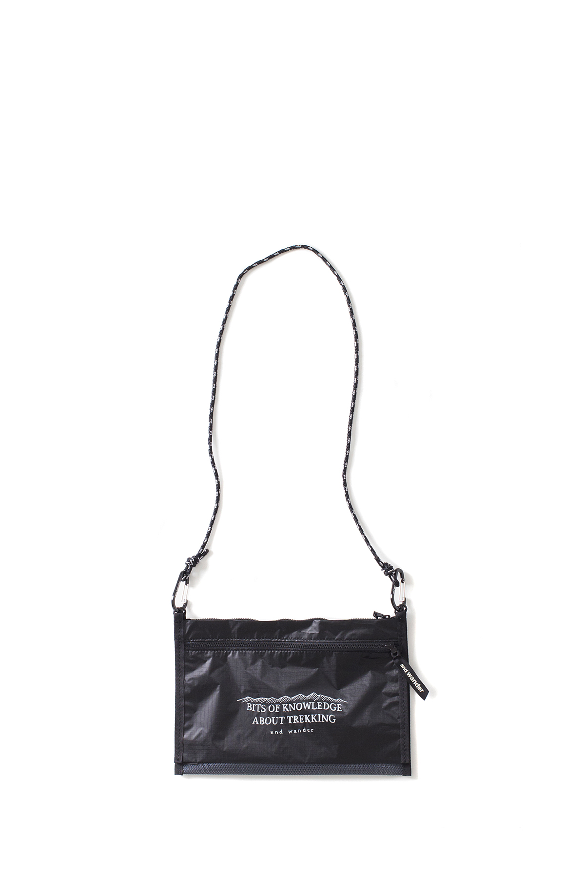and wander : Twin Pouch Set (Black)