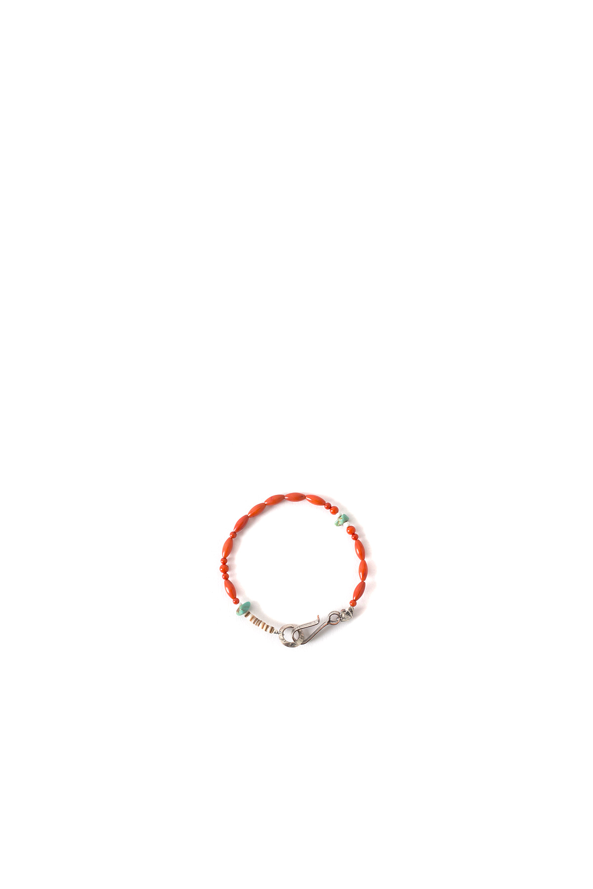 North Works : Nickel 10¢ Hook Coral Bracelet