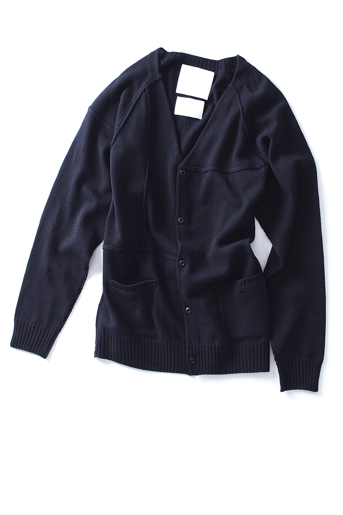 WHITE MOUNTAINEERING : Contrast Knit Cardigan (Black)
