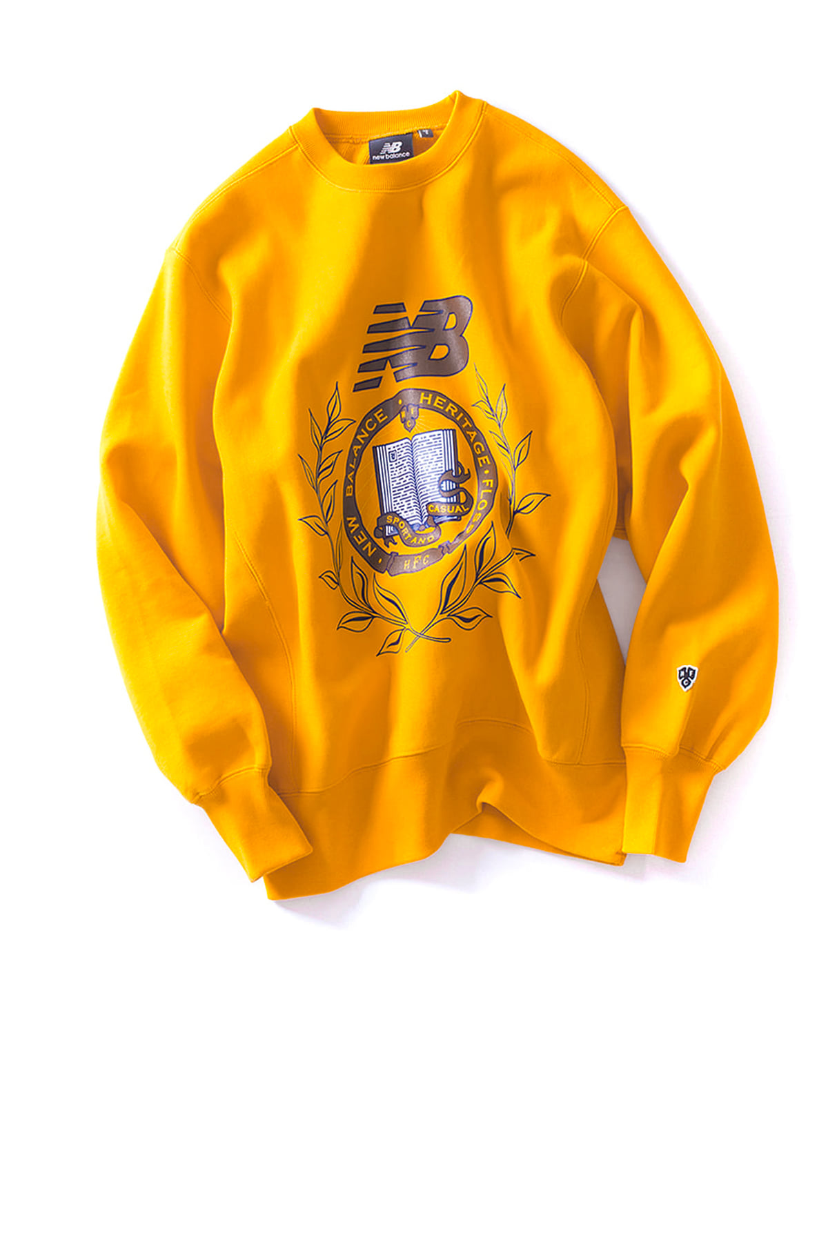 NB X Heritage Floss : Collage Crewneck (Yellow)
