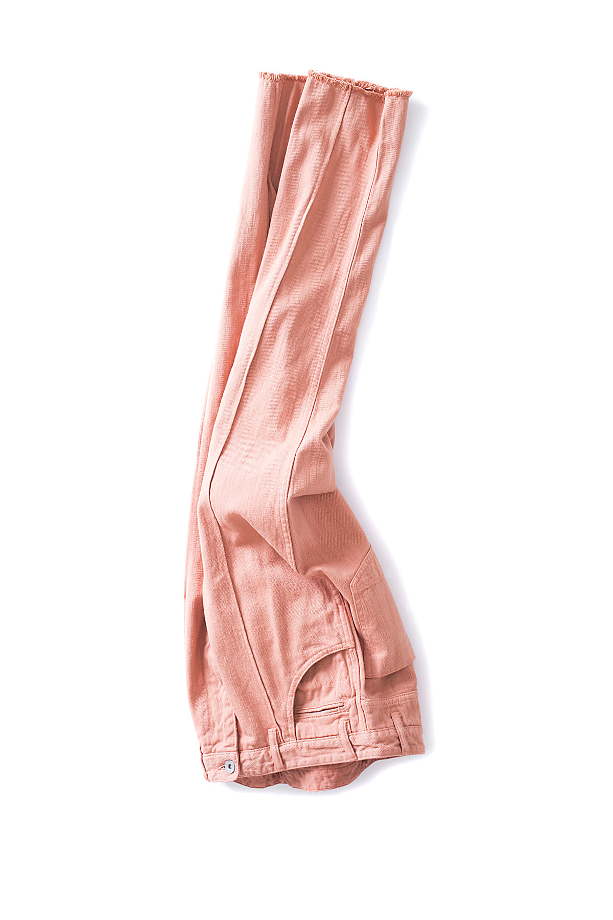 bukht : Pin Tuck Loose Denim Pants (Flamingo)