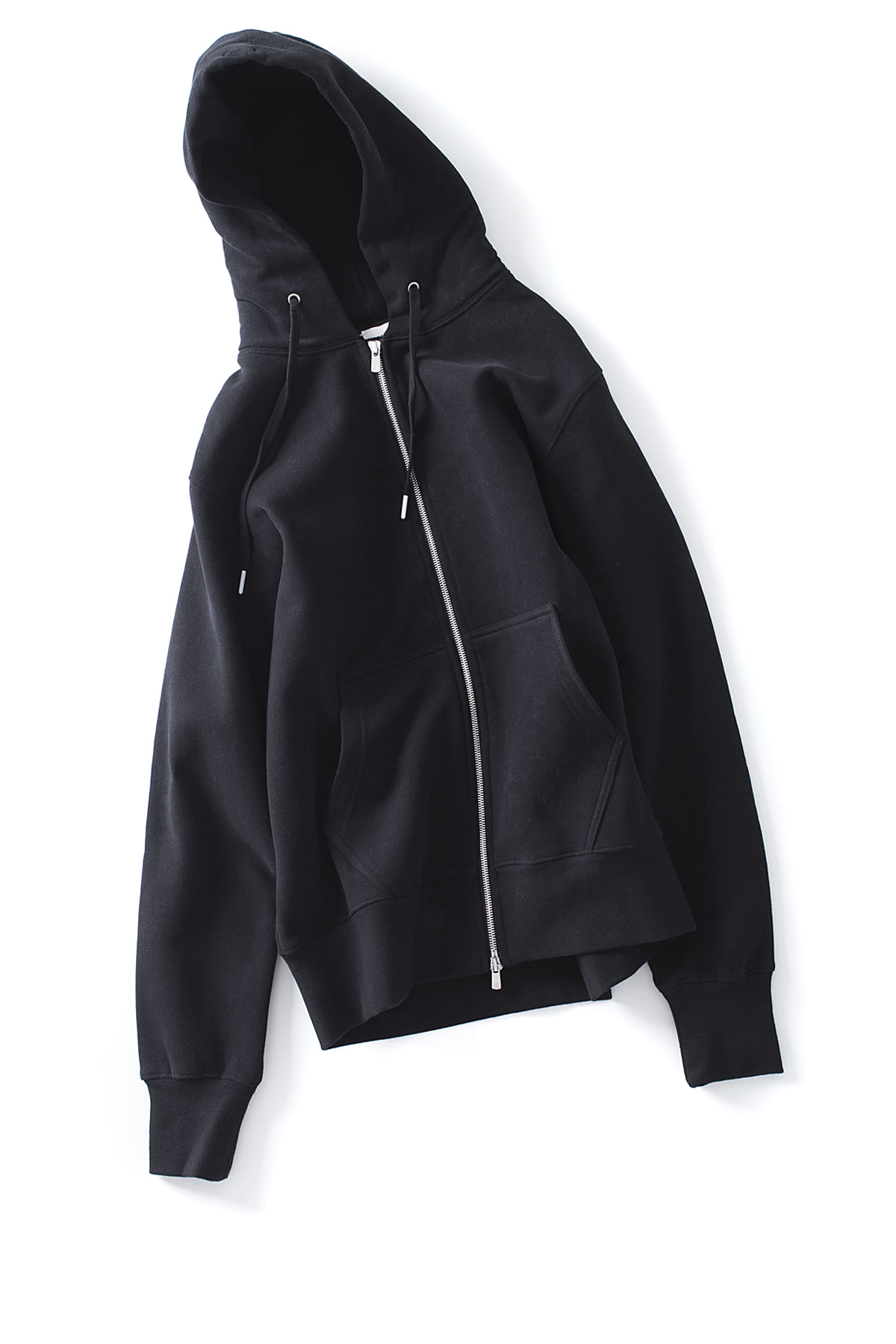 AECA WHITE : Zip Up Hoodie (Black)