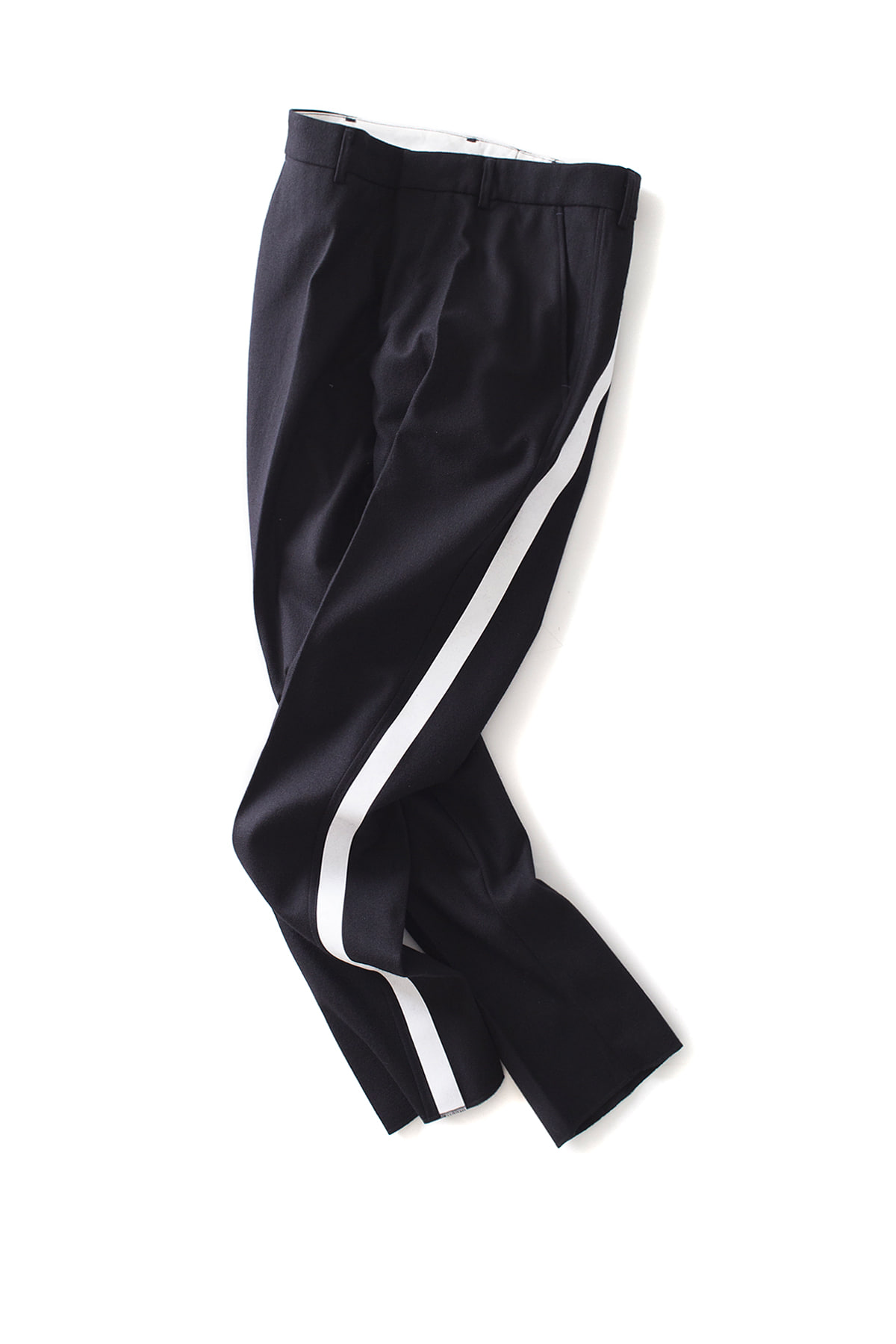 THE EDITOR : Line Wool Trouser (Black x White Line)