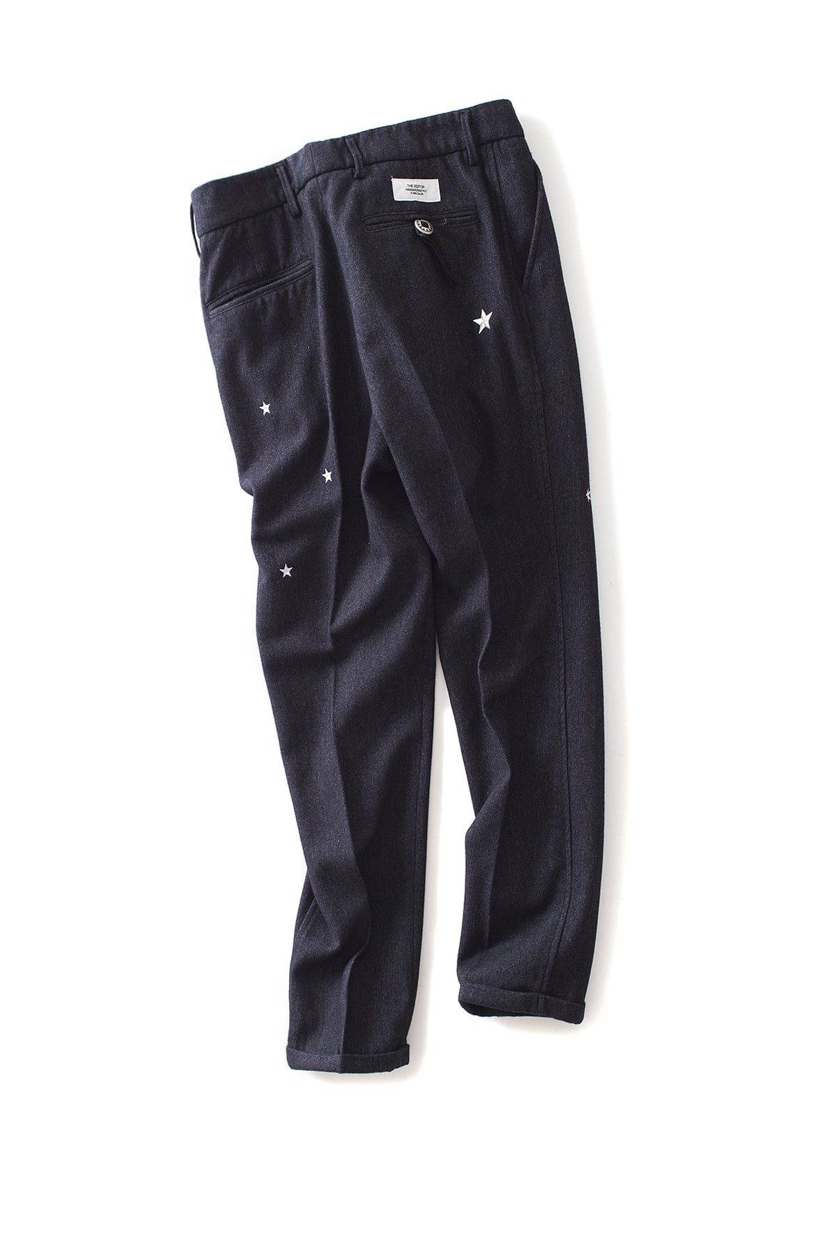 THE EDITOR : Star Embroidered Trouser (Charcoal)