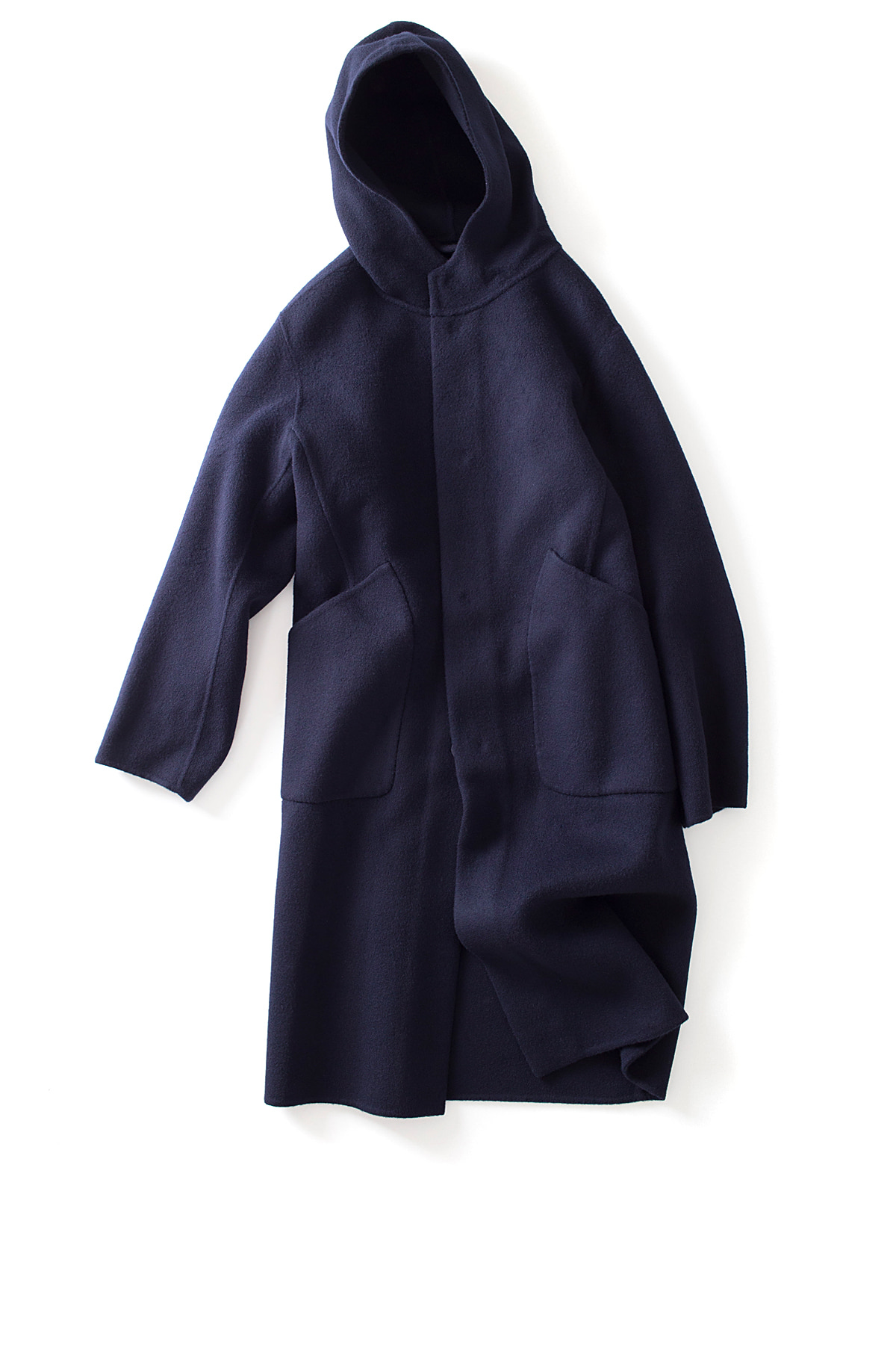 Document : Hand Made Hooded Coats (Navy)