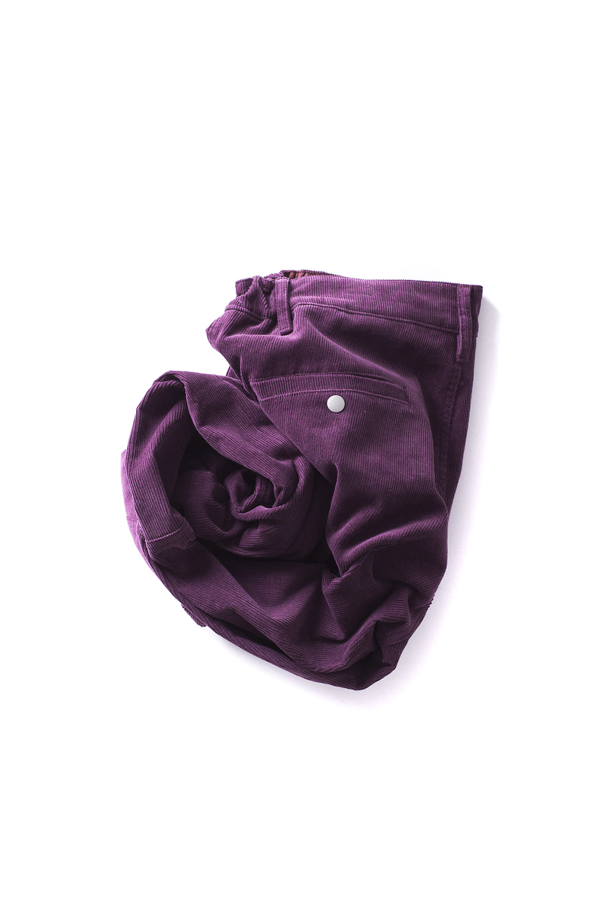 forumwear : Corduroy Easy Rib Pants (Purple)