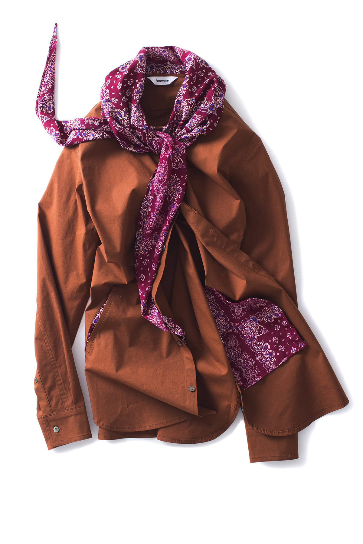 forumwear : Scarf Shirt (Brown)