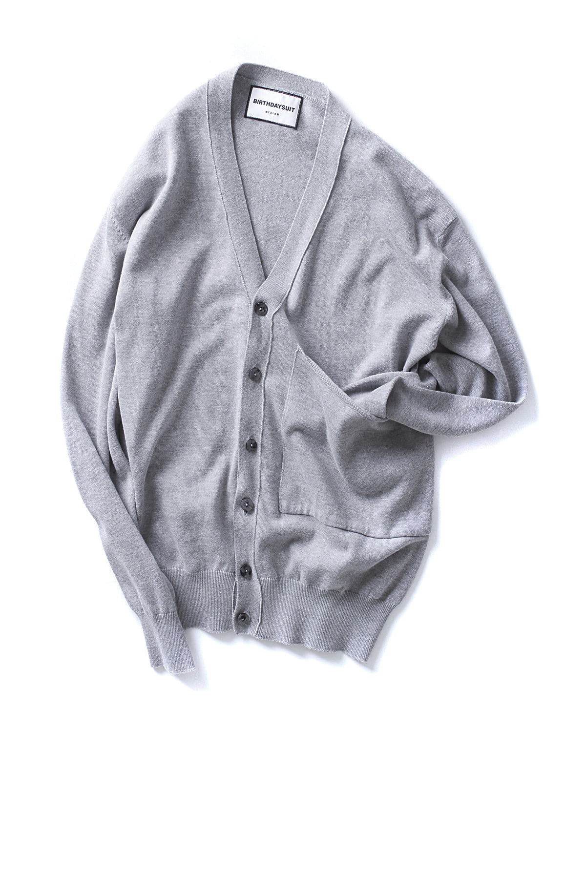 BIRTHDAYSUIT : Big Pocket Knit Cardigan (Grey)