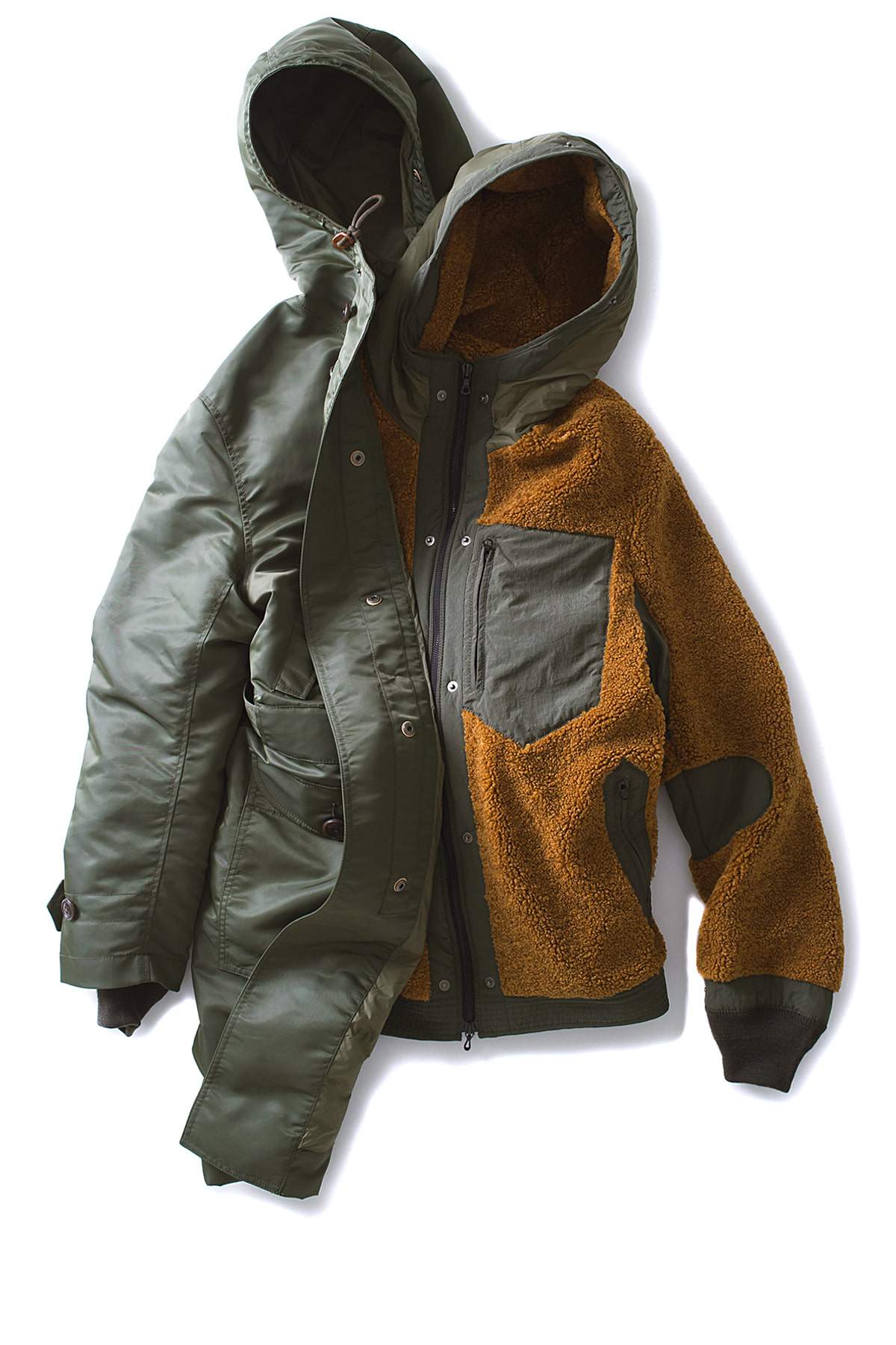 Eastlogue : Chongjin Battle Parka (Olive Nylon)