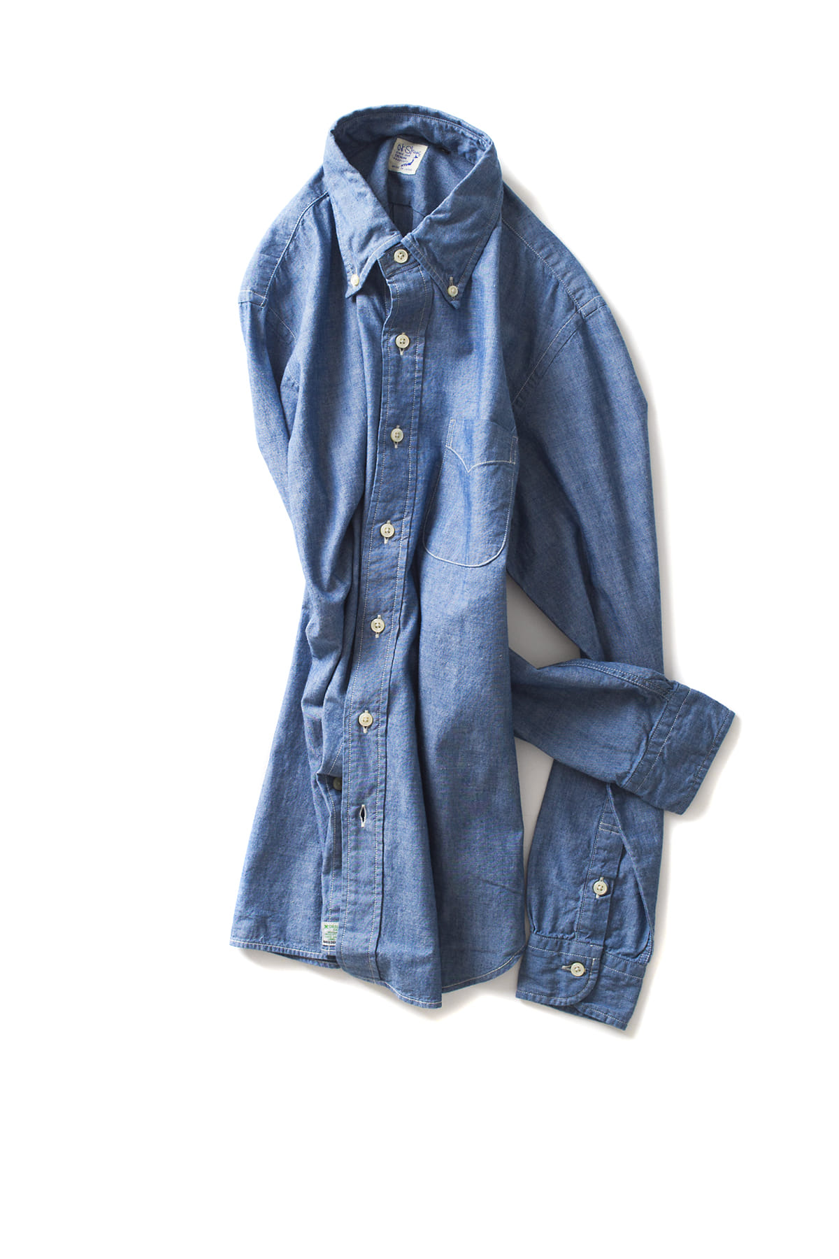 orSlow : Button Down Shirt (84 Chambray)