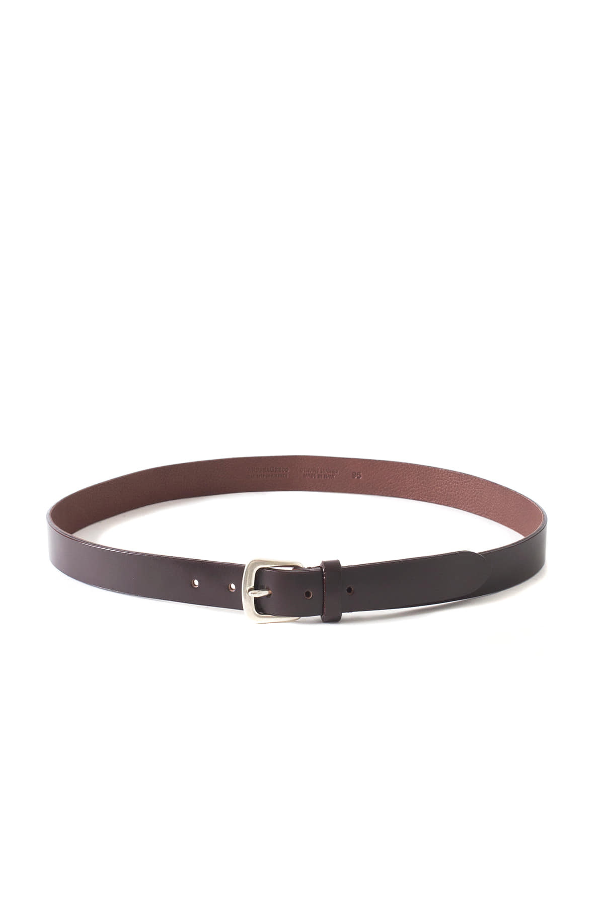 ANDREA GRECO : Dakota Calf Leather Belt (Avana)