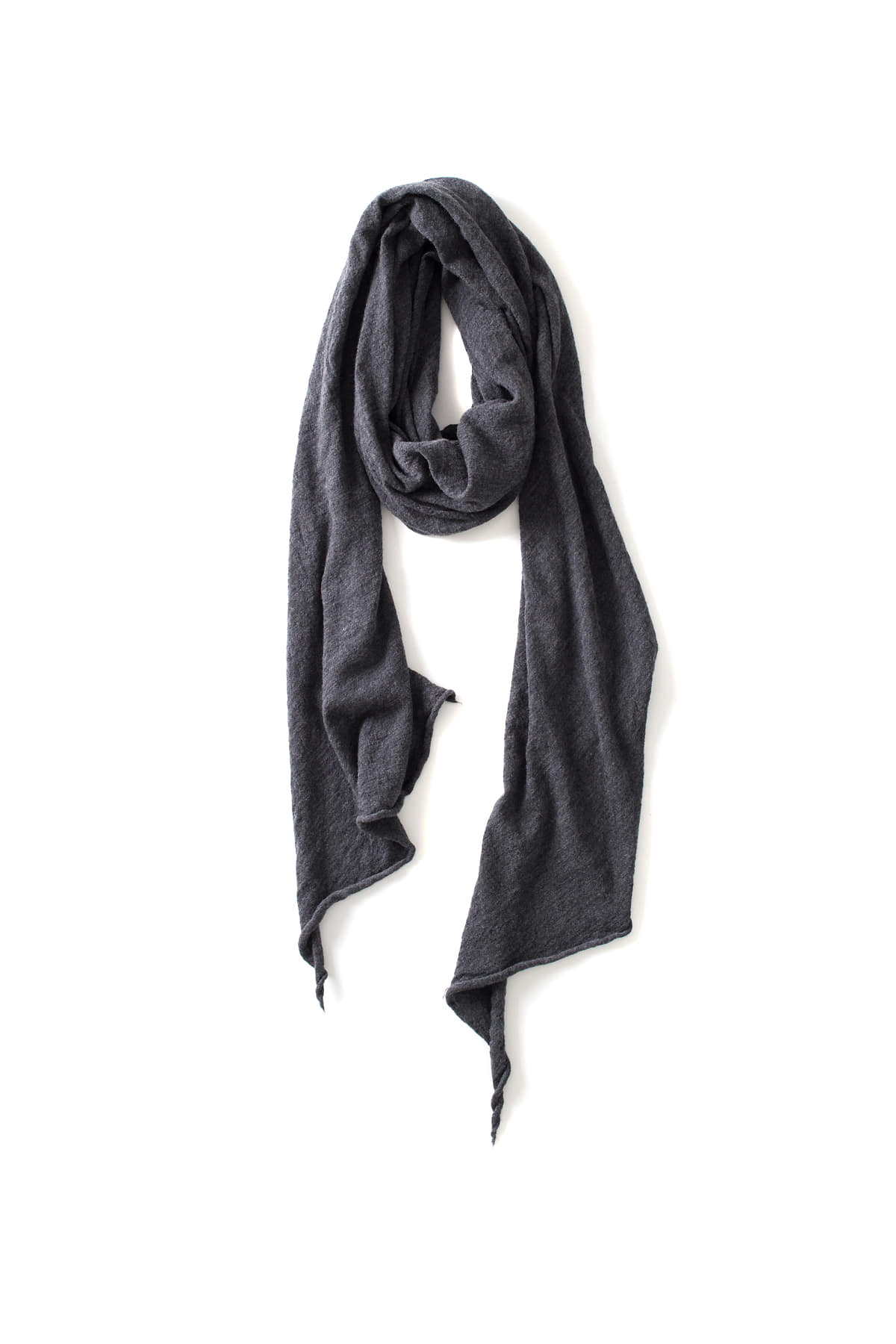 RYU : Washable Wool Gauze Stole (Charcoal)