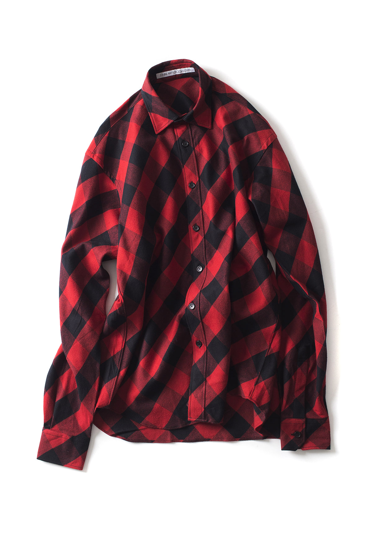 JOHN LAWRENCE SULLIVAN : Plaid Shirt (Red)