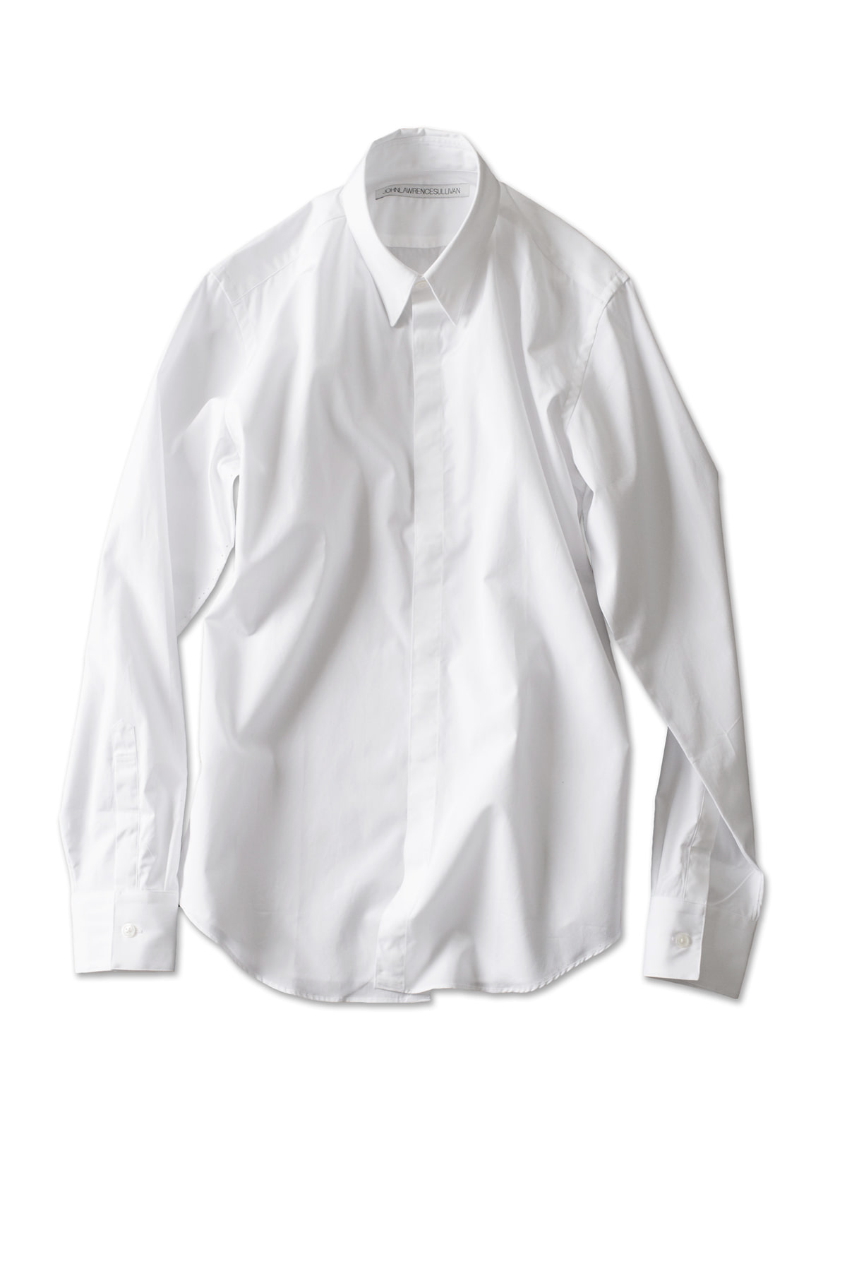 JOHN LAWRENCE SULLIVAN : Fly Front Shirt (White)