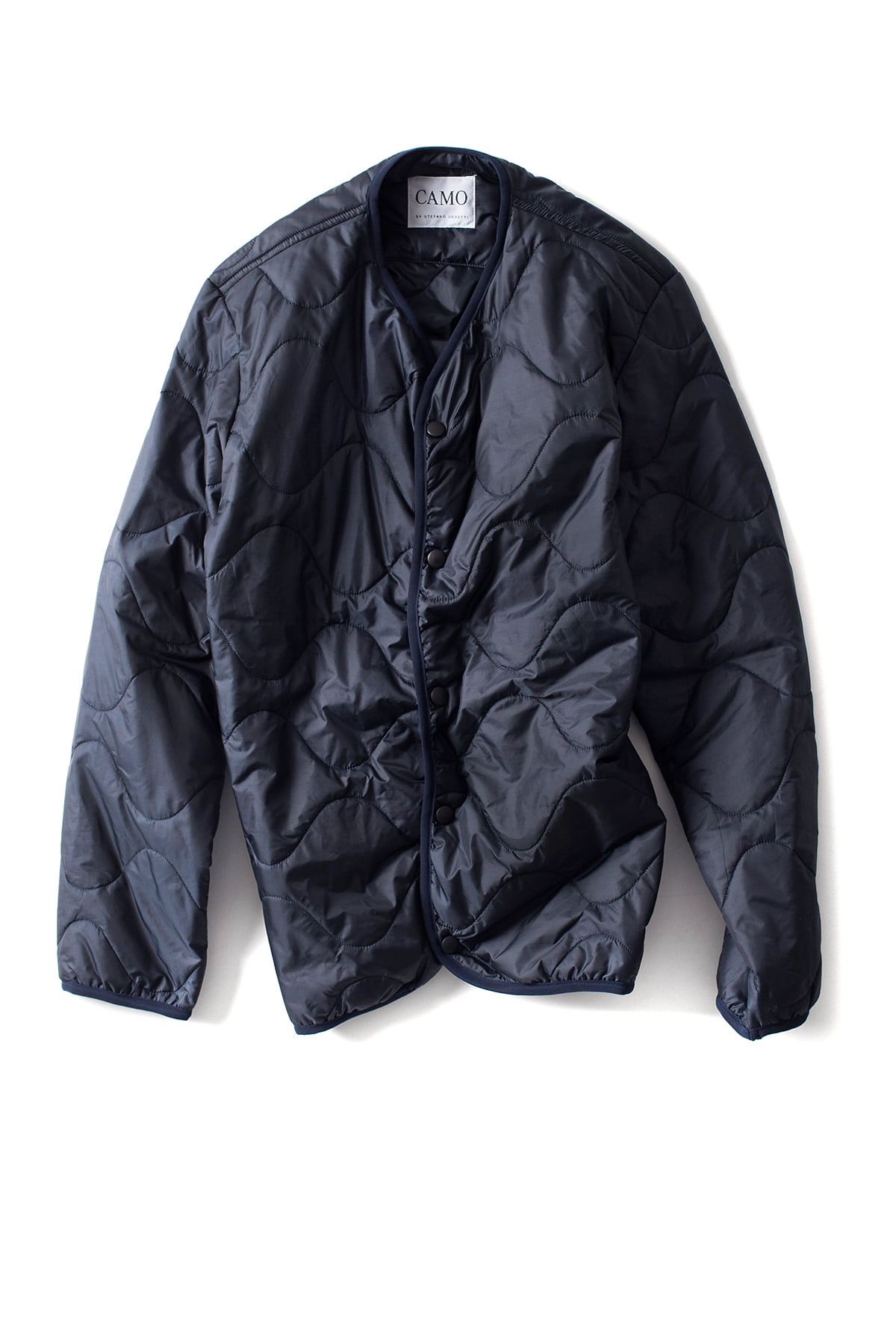 CAMO : WAR ADMIRAL Quilted Waves (Navy)