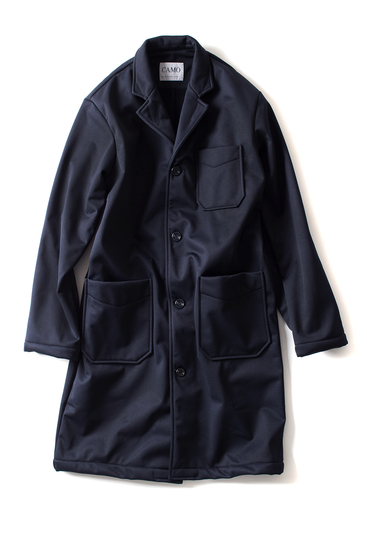 CAMO : RIBOT Wide Coat (Technical Pile navy)