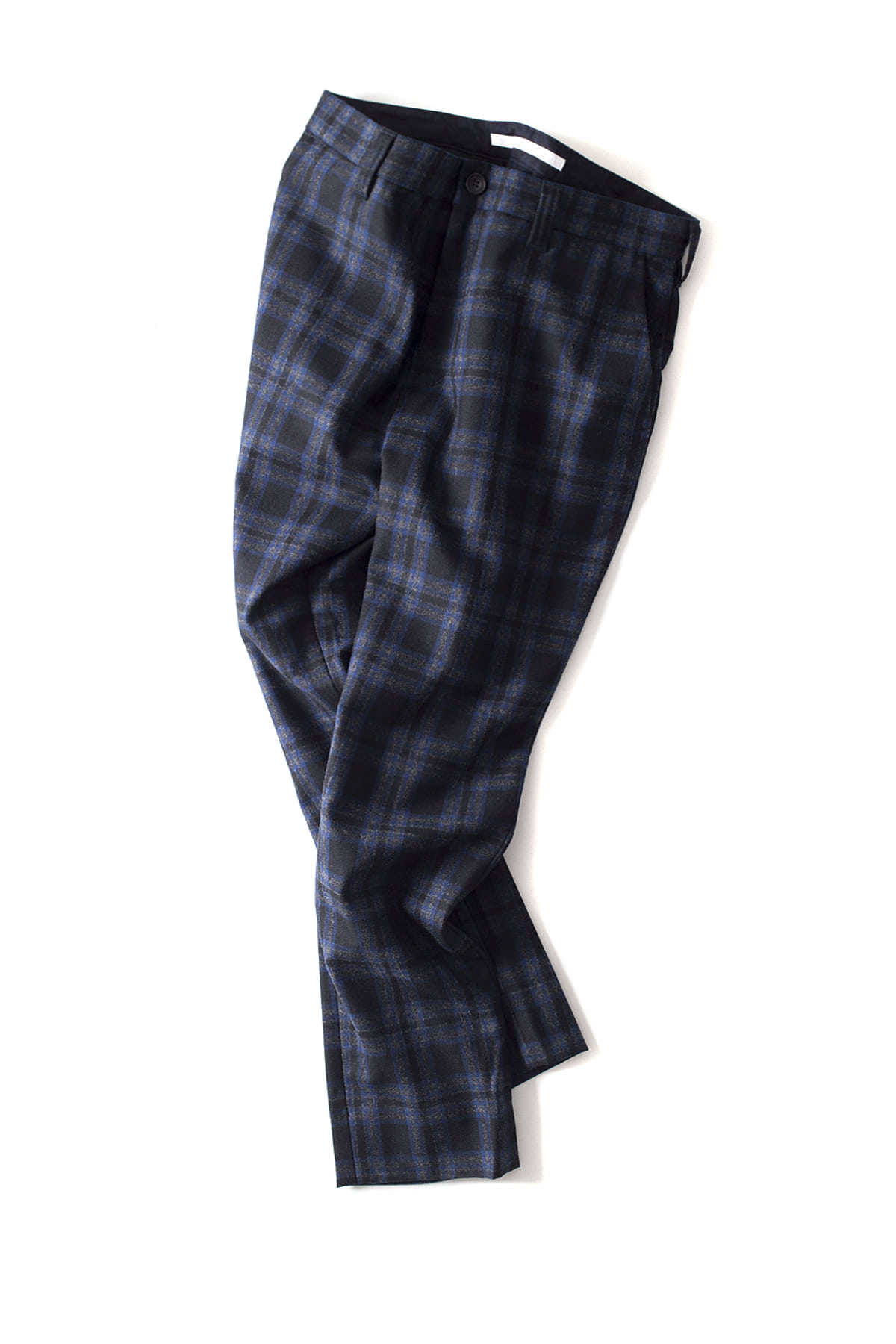 WHITE MOUNTAINEERING : Check Tapered Slacks (Navy)