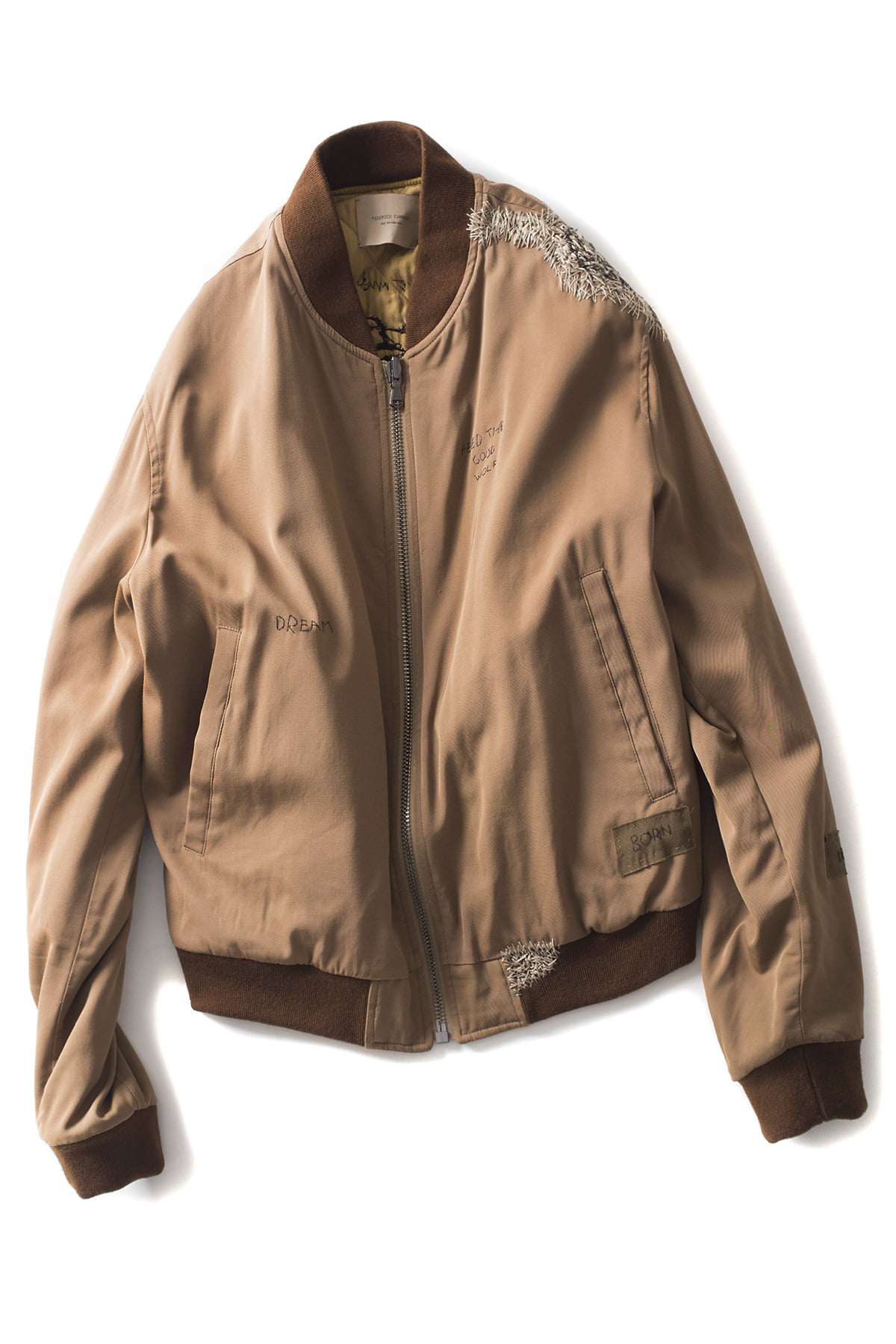 Federico Curradi : Reversible Embroidery Bomber Jacket (Brown)