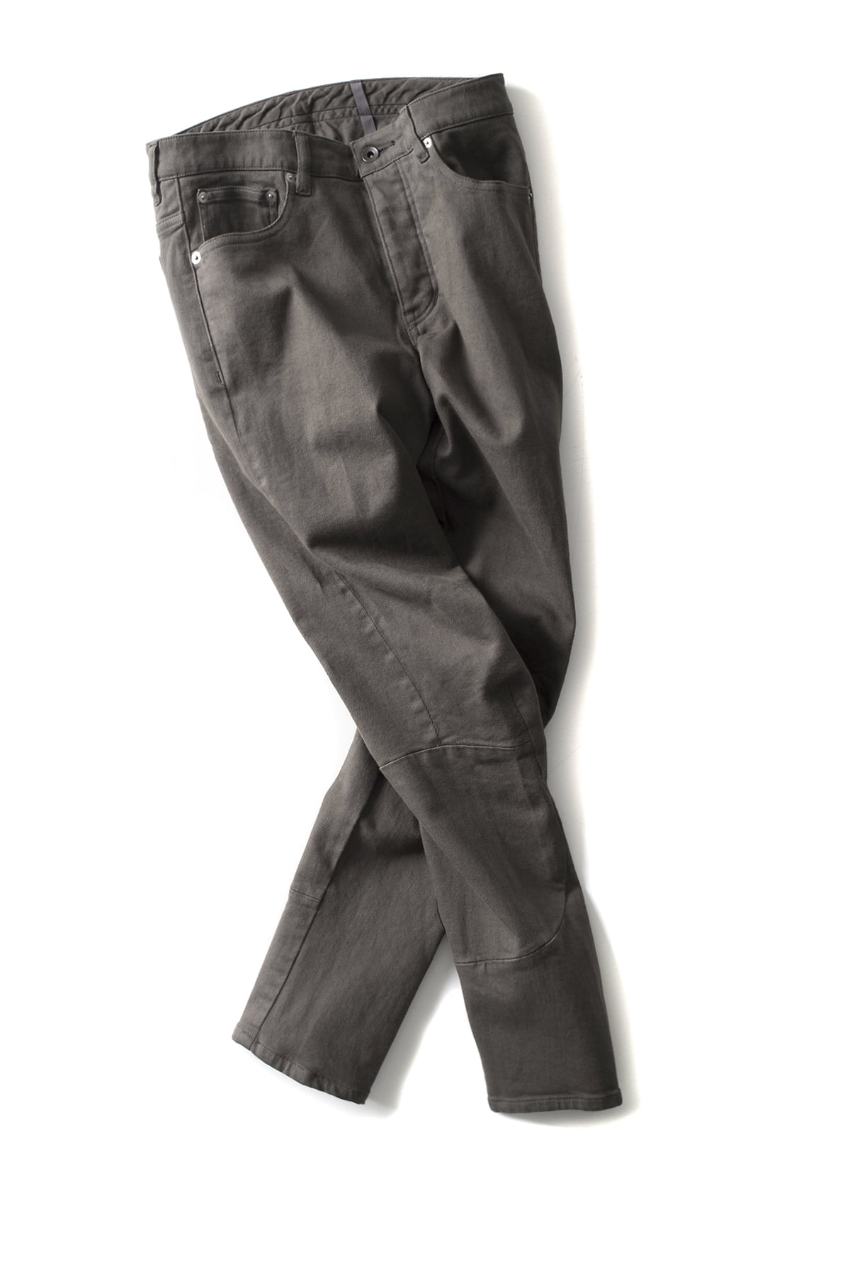 ATTACHMENT / KAZYUKI KUMAGAI : Stretch Biker Denim (Khaki Grey)