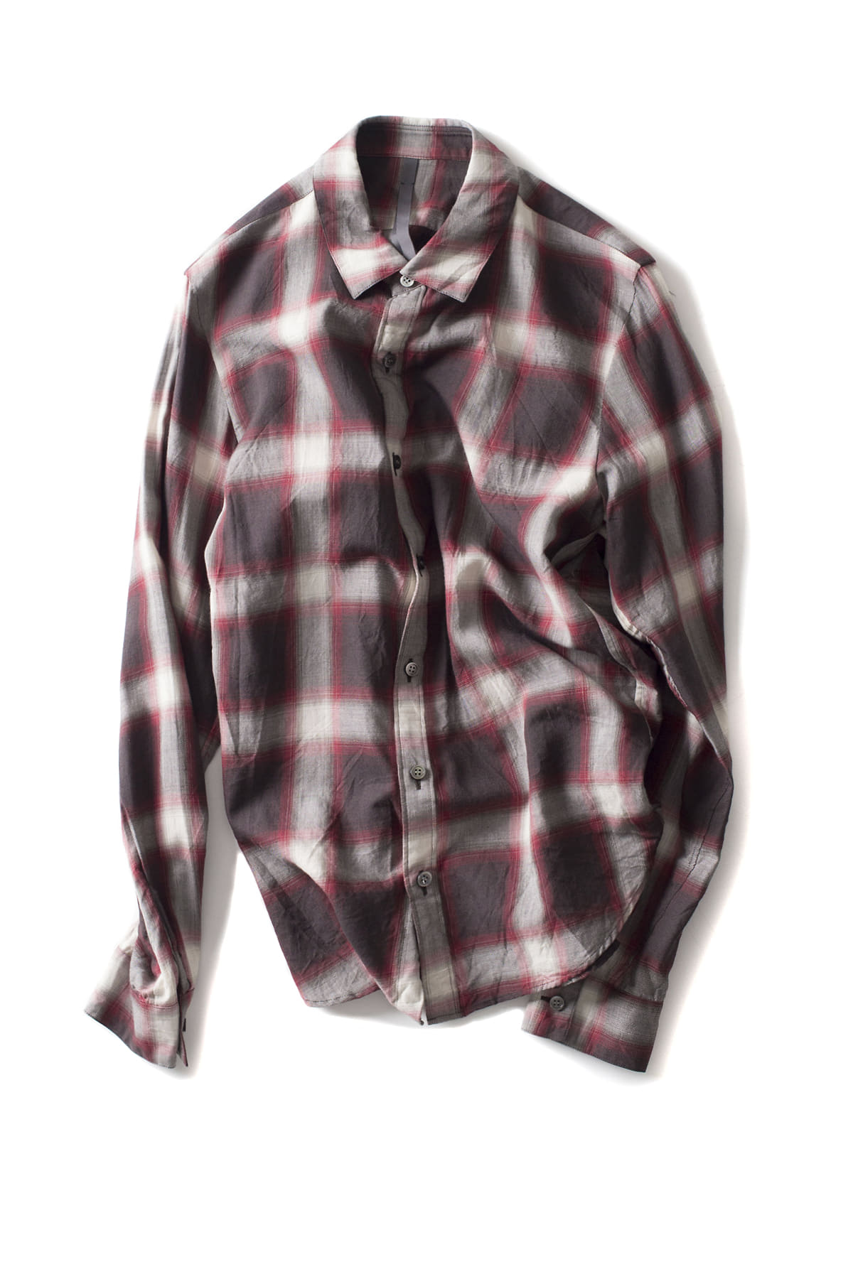 ATTACHMENT / KAZYUKI KUMAGAI : Viera Check Shirt (Red)