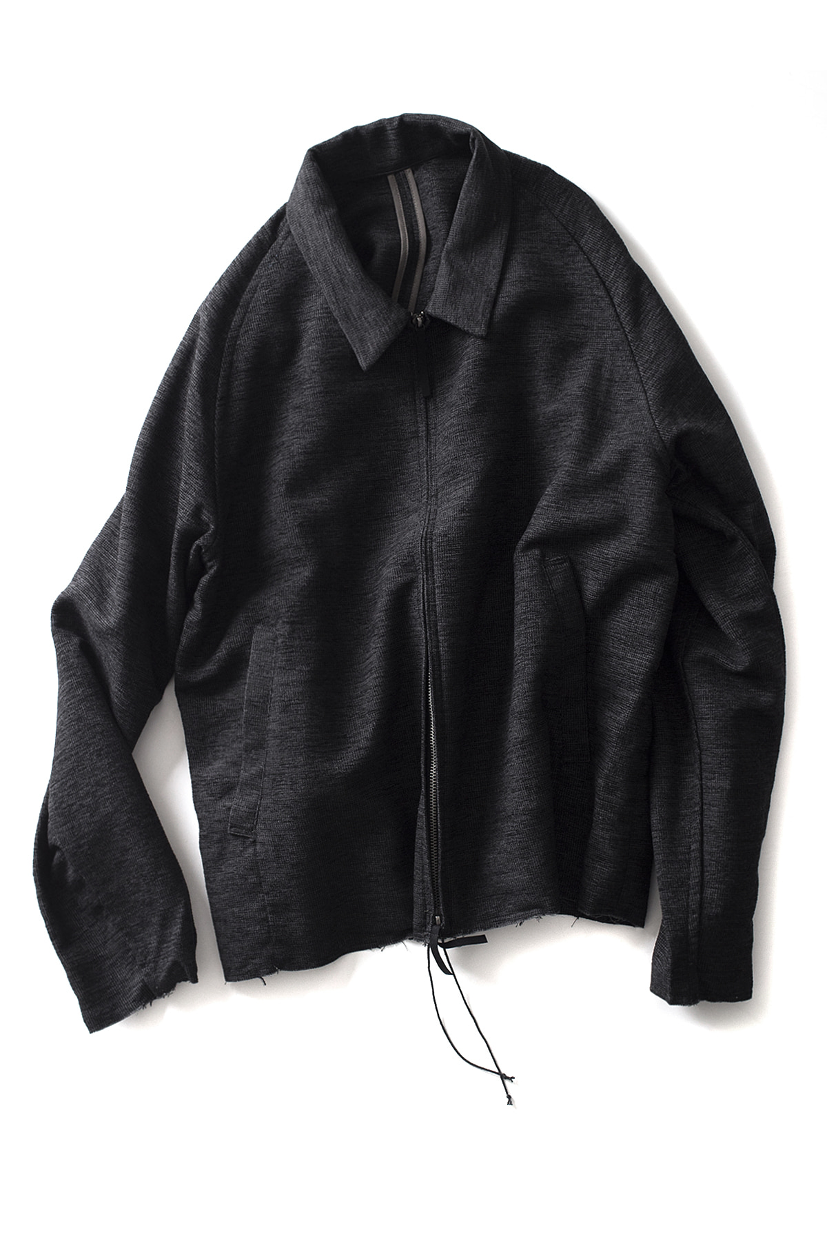 bukht : Drop Collar Blouson (Navy / Black)