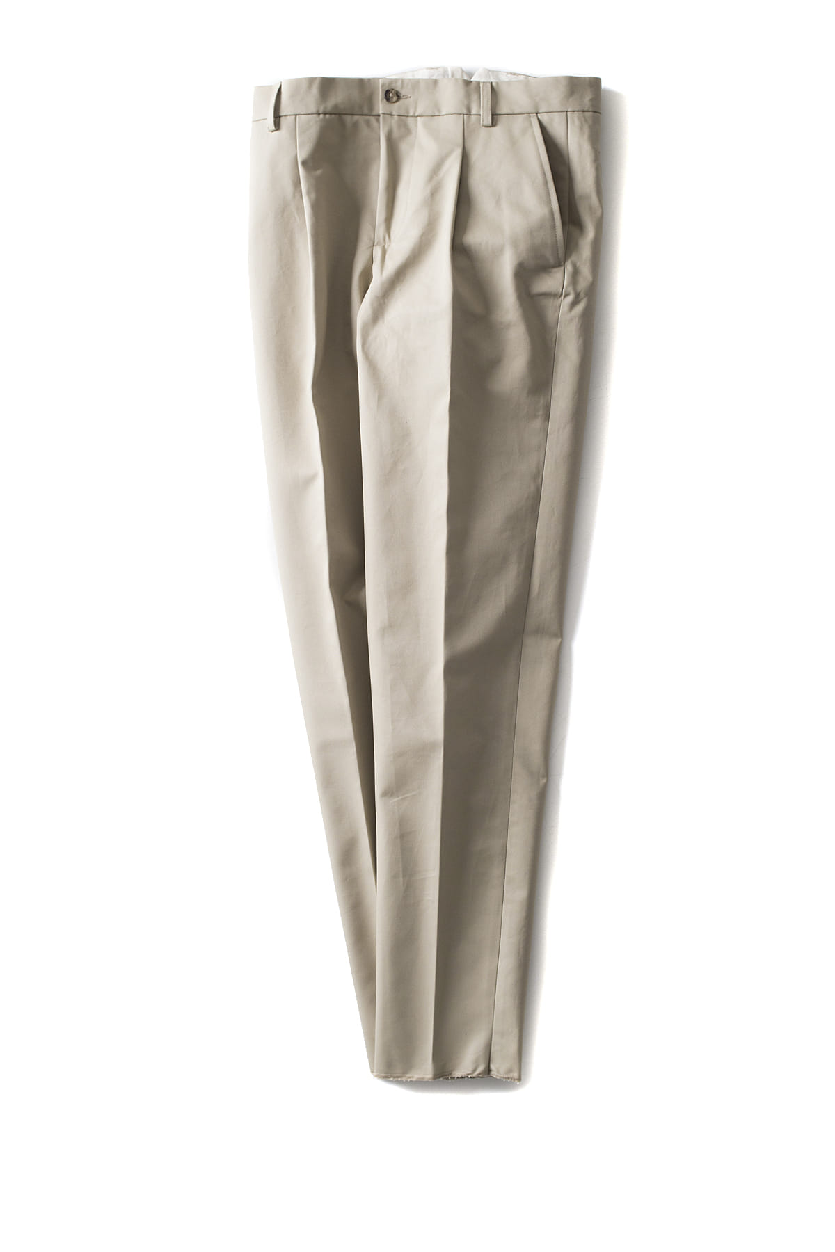 de bonne facture : One Pleat Trousers (Putty)