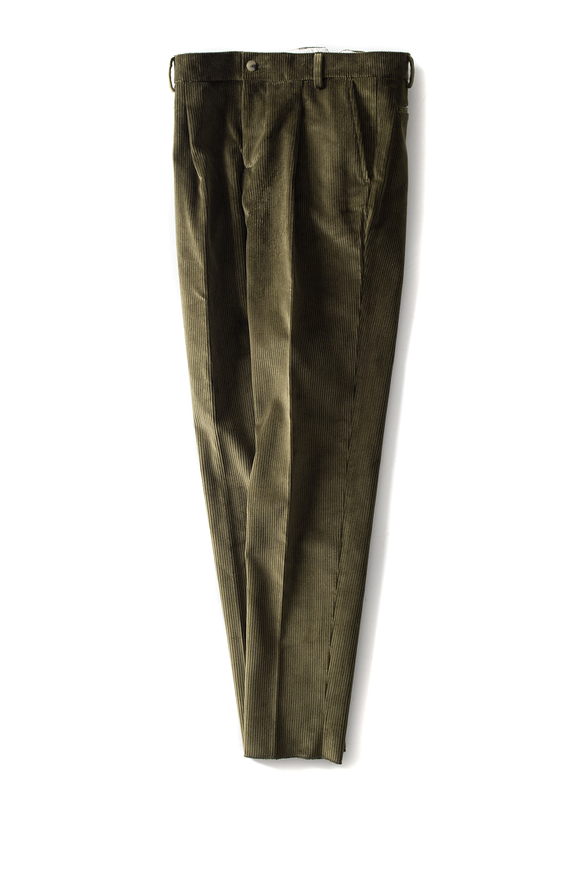 de bonne facture : One Pleat Trousers (Olive)