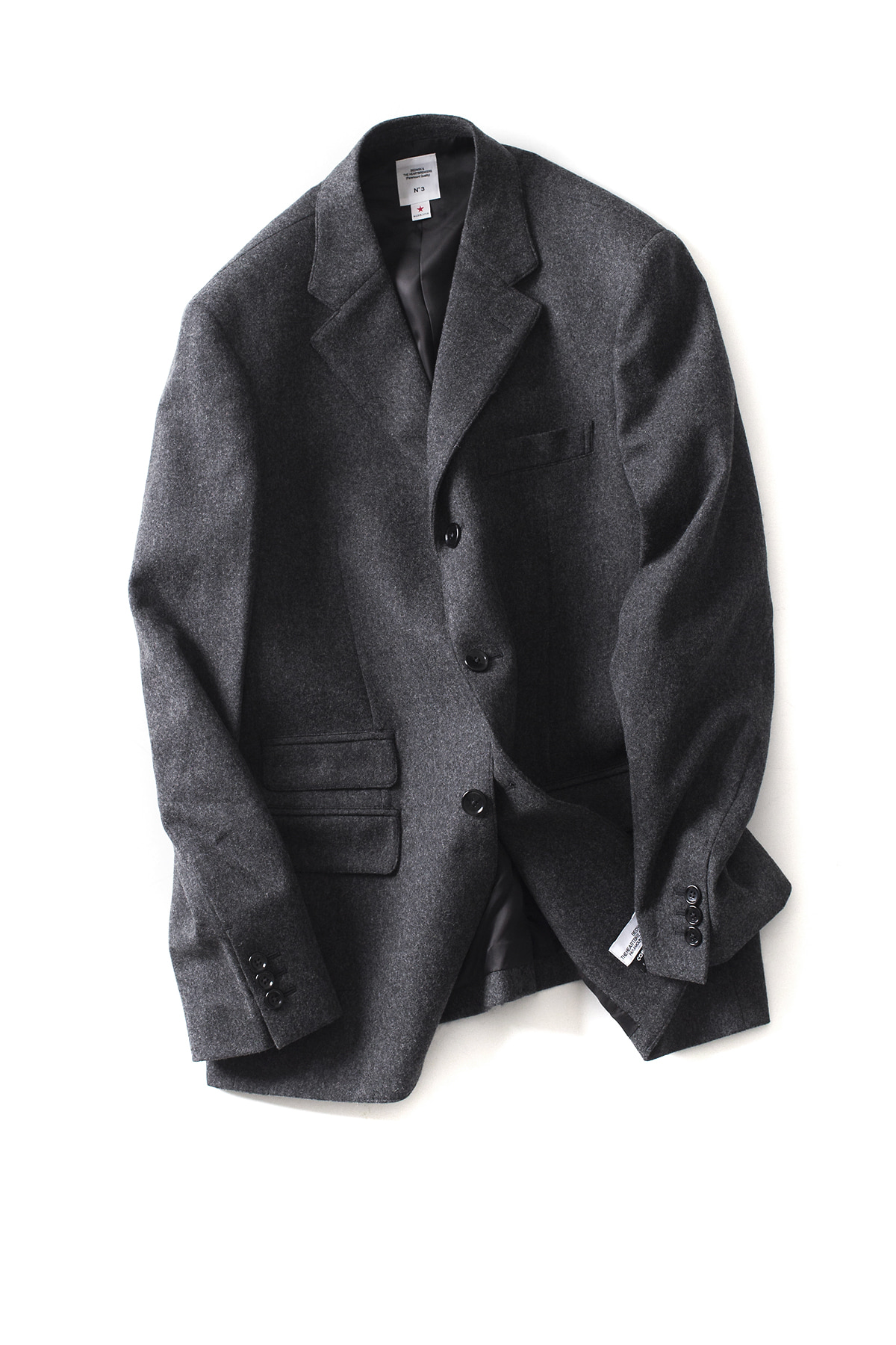 "Bedwin & The Heartbreakers : 3B Wool Taylor Jacket ""MICHAEL"" (Charcoal)"