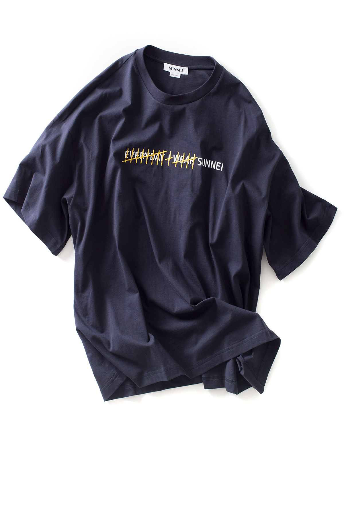 SUNNEI : T-Shirt Over Tally Mark Every I Wear Sunnei (Navy)