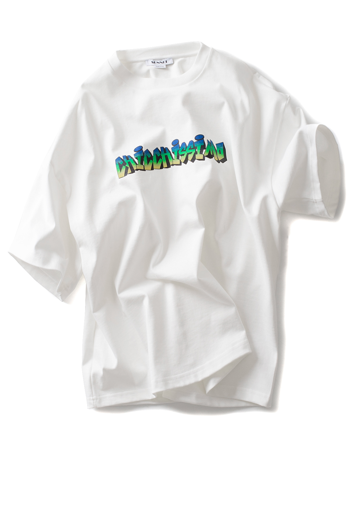SUNNEI : Sweat T-Shirt Over Chichissimo (White)