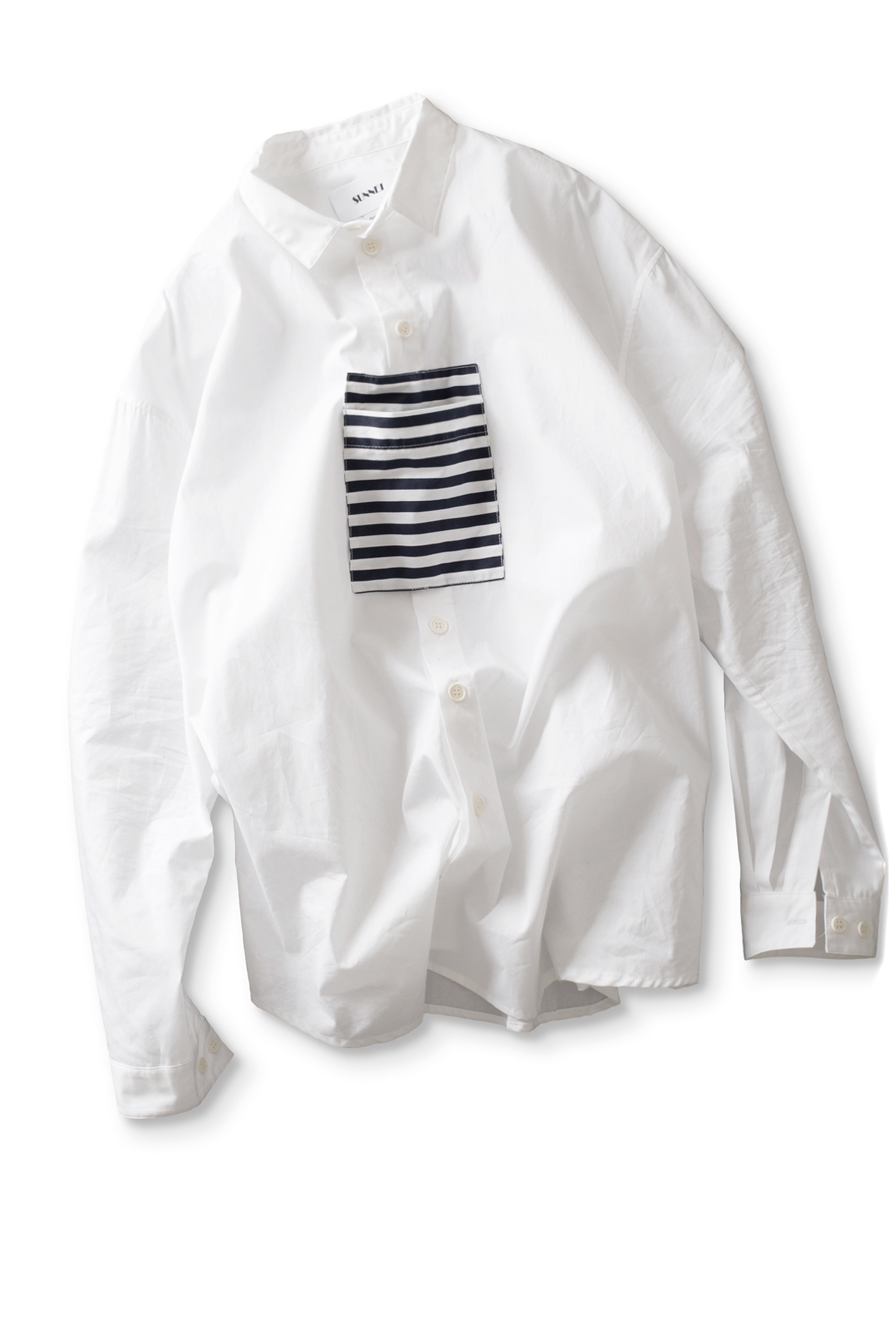 SUNNEI : Shirt With Pocket Panel (White)