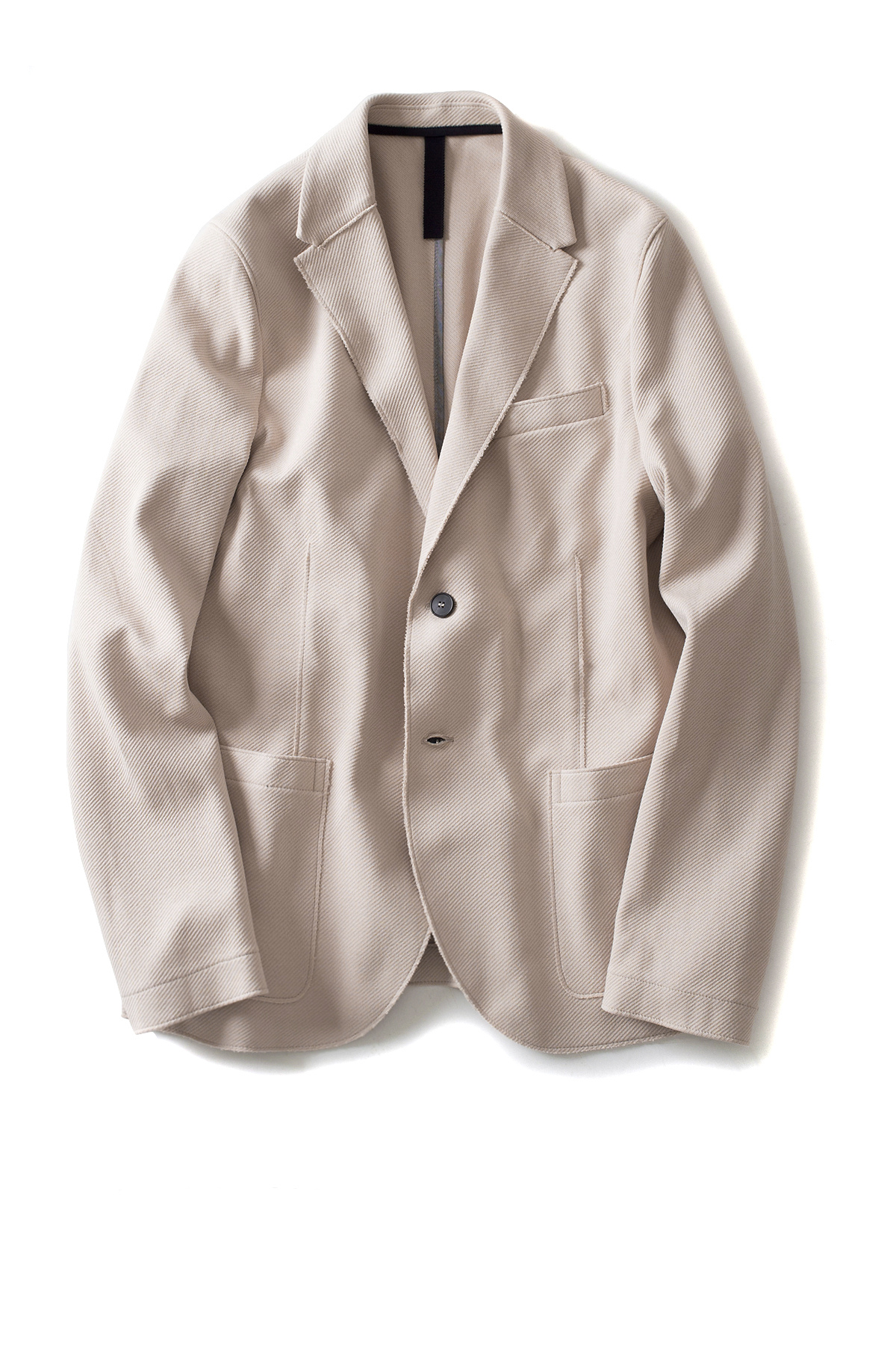 Harris Wharf London : Men 2b. Blazer Cavalry Twill (Cream)