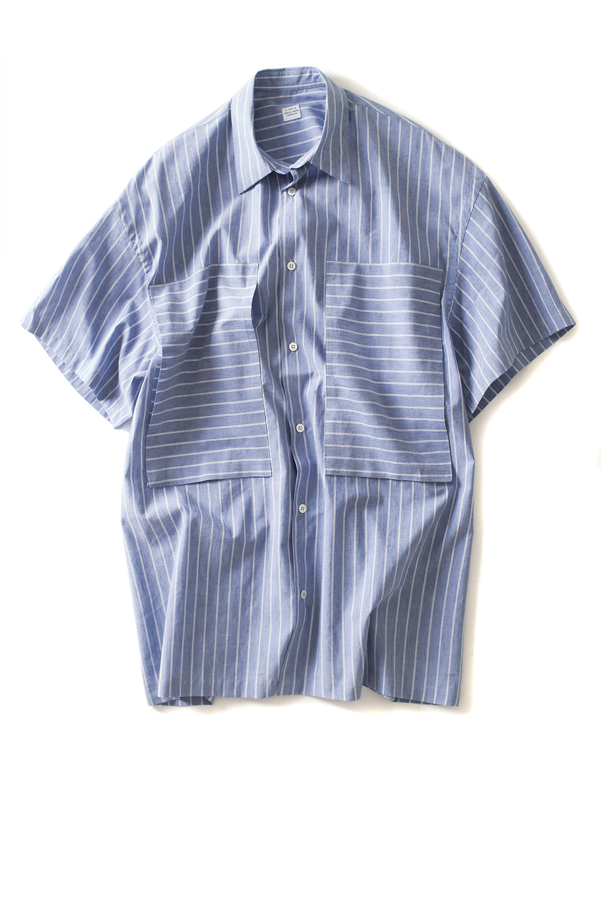 E. Tautz : Short Sleeve Lineman Shirt (White / Blue)