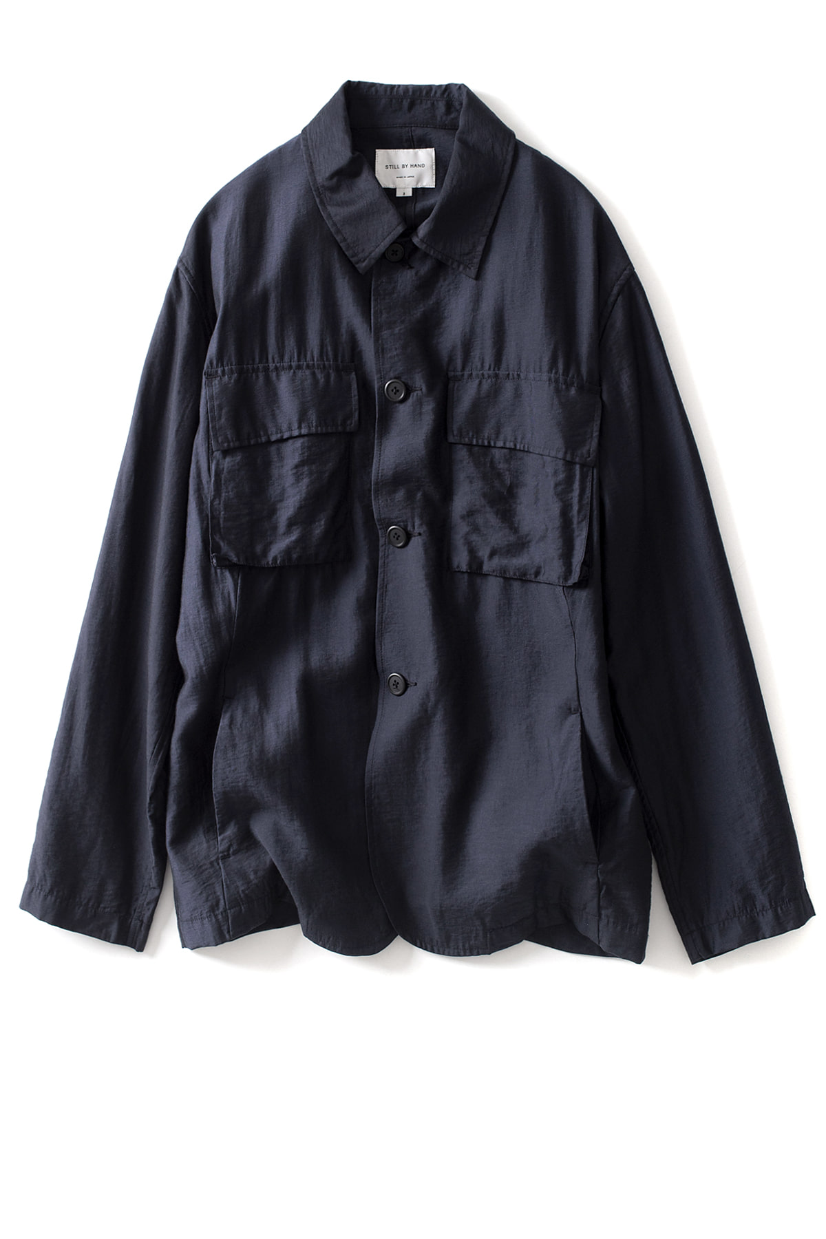 Still by Hand : B.D.U Detail Shirt Jacket (Navy)
