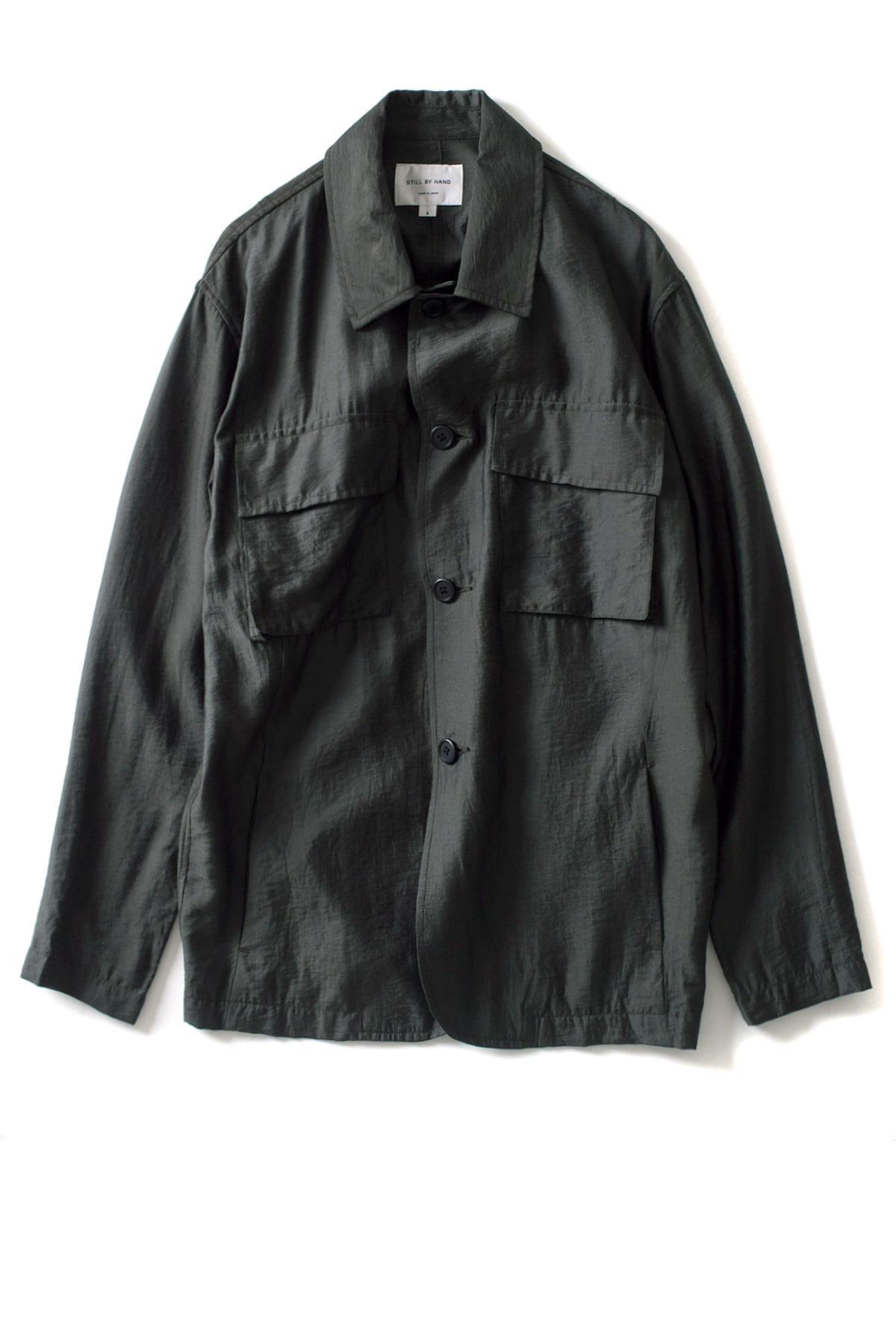 Still by Hand : B.D.U Detail Shirt Jacket (Green)