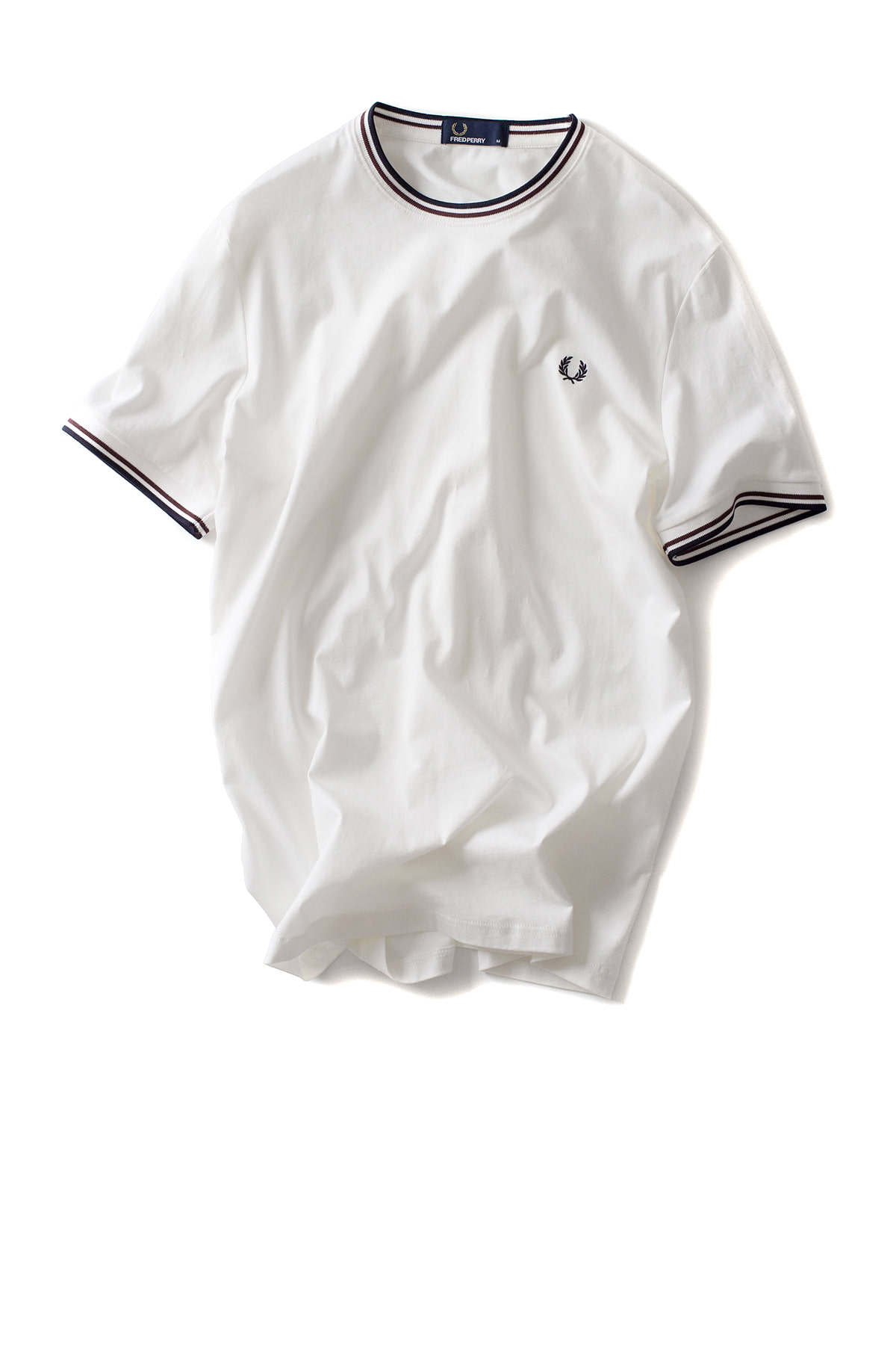 FRED PERRY : Twin Tipped T-Shirt (Snow White)