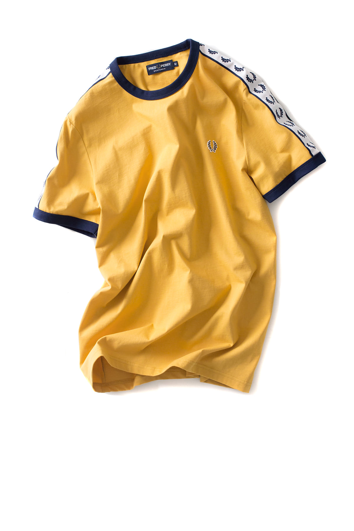 FRED PERRY : Taped Ringer T-Shirt (Gold)