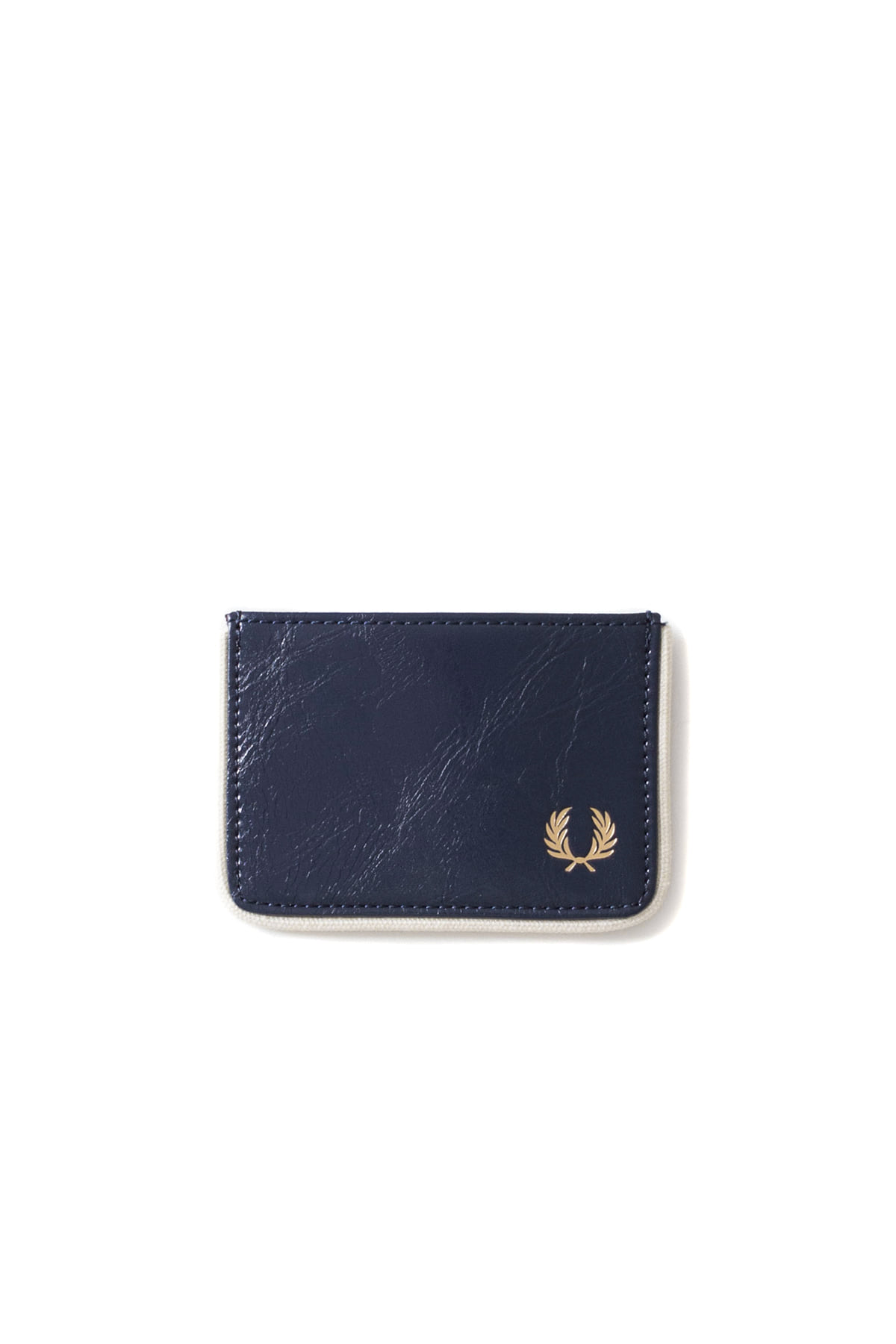 FRED PERRY : Classic Card Holder (Navy / Ecru)