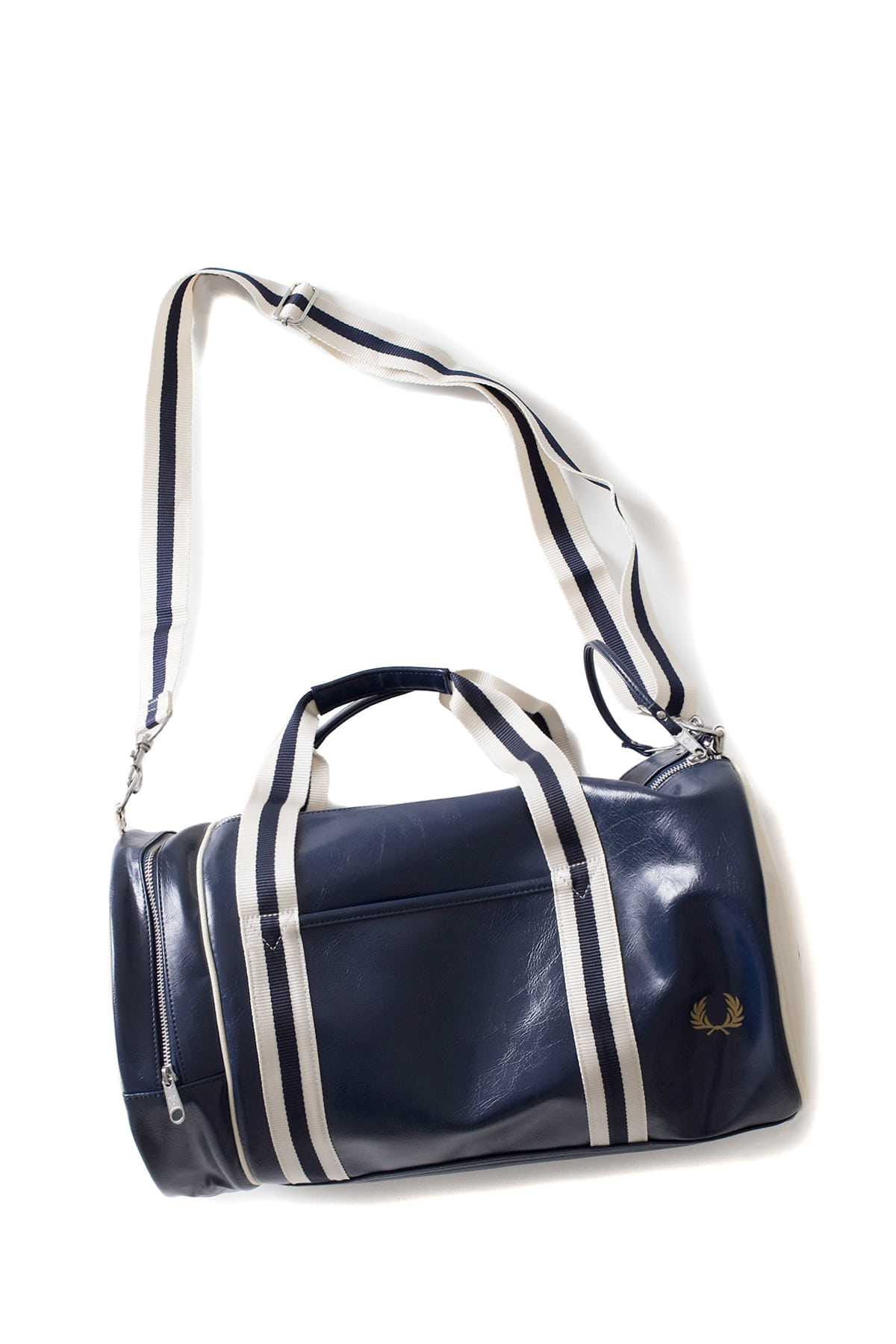 FRED PERRY : Classic Barrel Bag (Navy / Ecru)