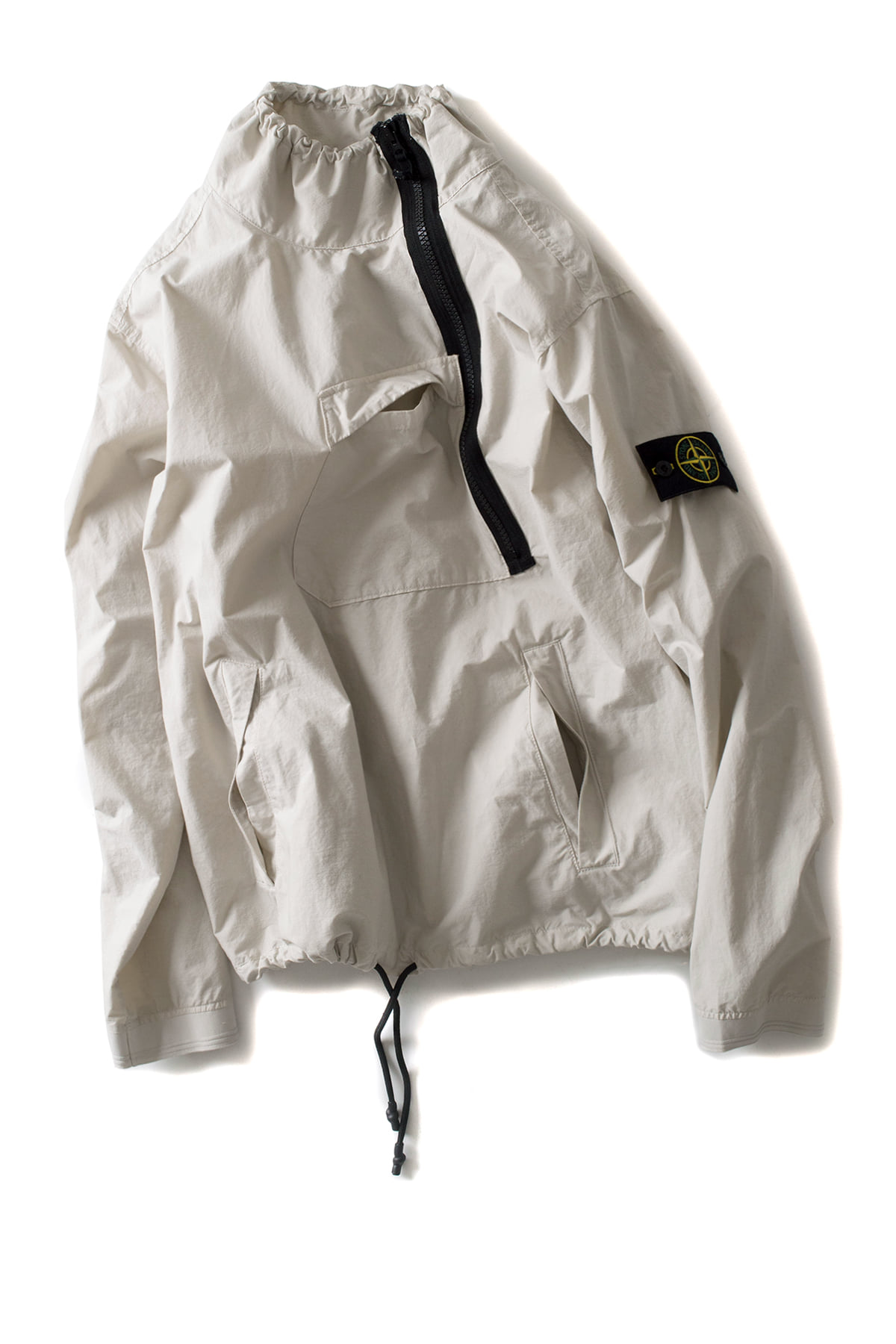 Stone Island : LIGHT COTTON NYLON TWILL (Mastic White)