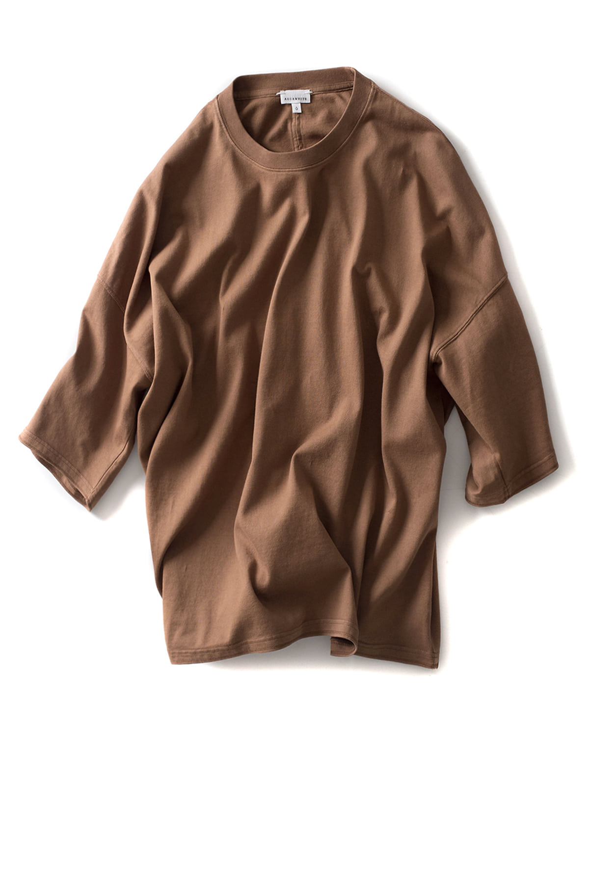 AECA WHITE x IAMSHOP Exclusive : Oversize Half Sleeve Sweat (Brown)