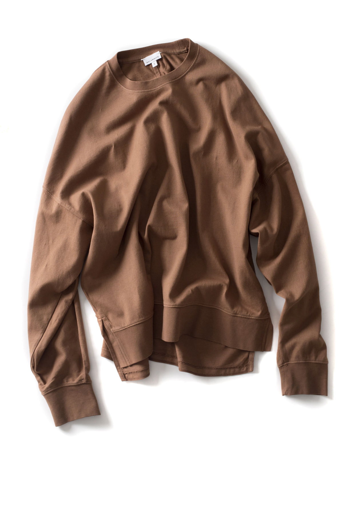 AECA WHITE x IAMSHOP Exclusive : Oversize Batwing Sweat (Brown)