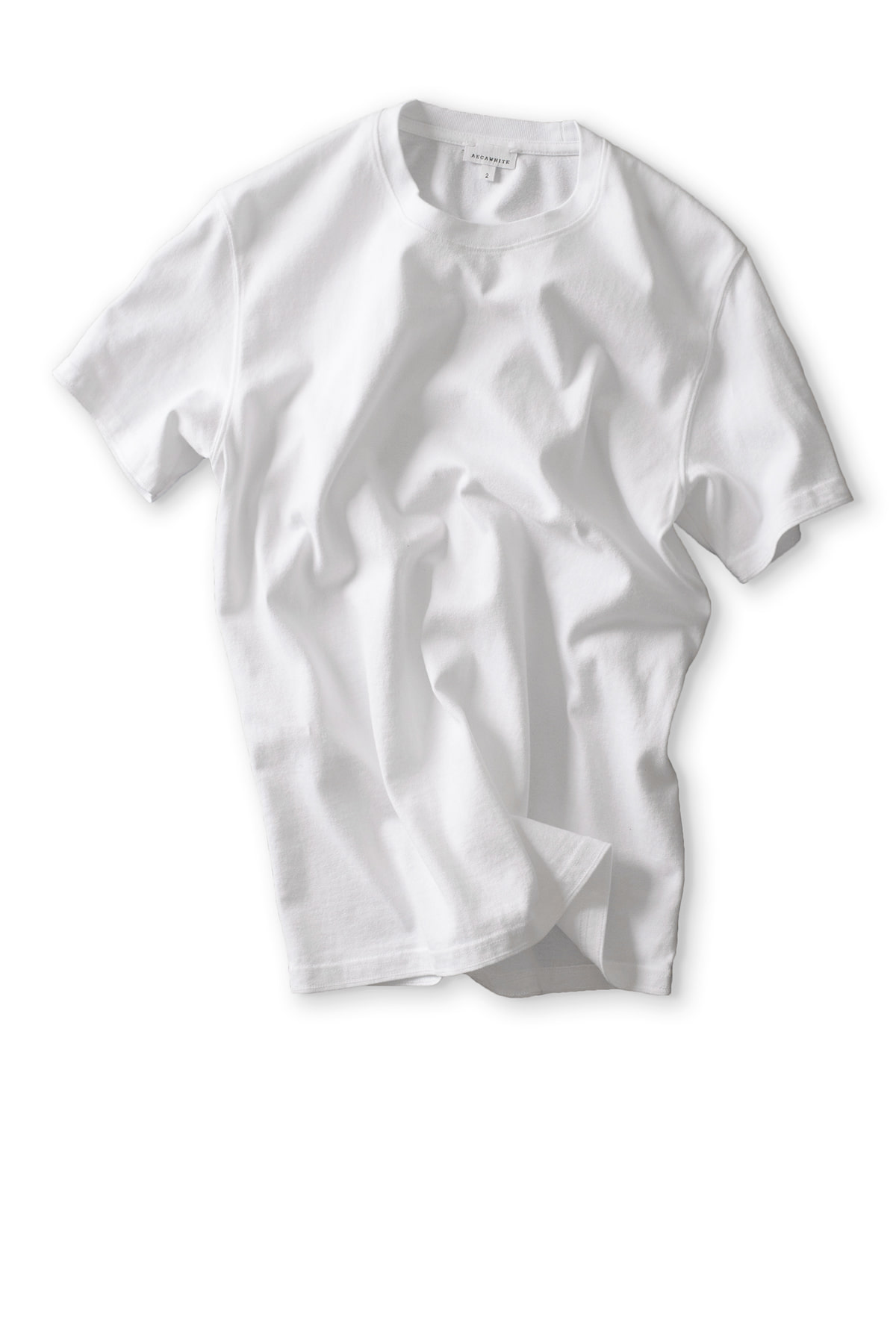 AECA WHITE : Half Sleeve Tee (White)