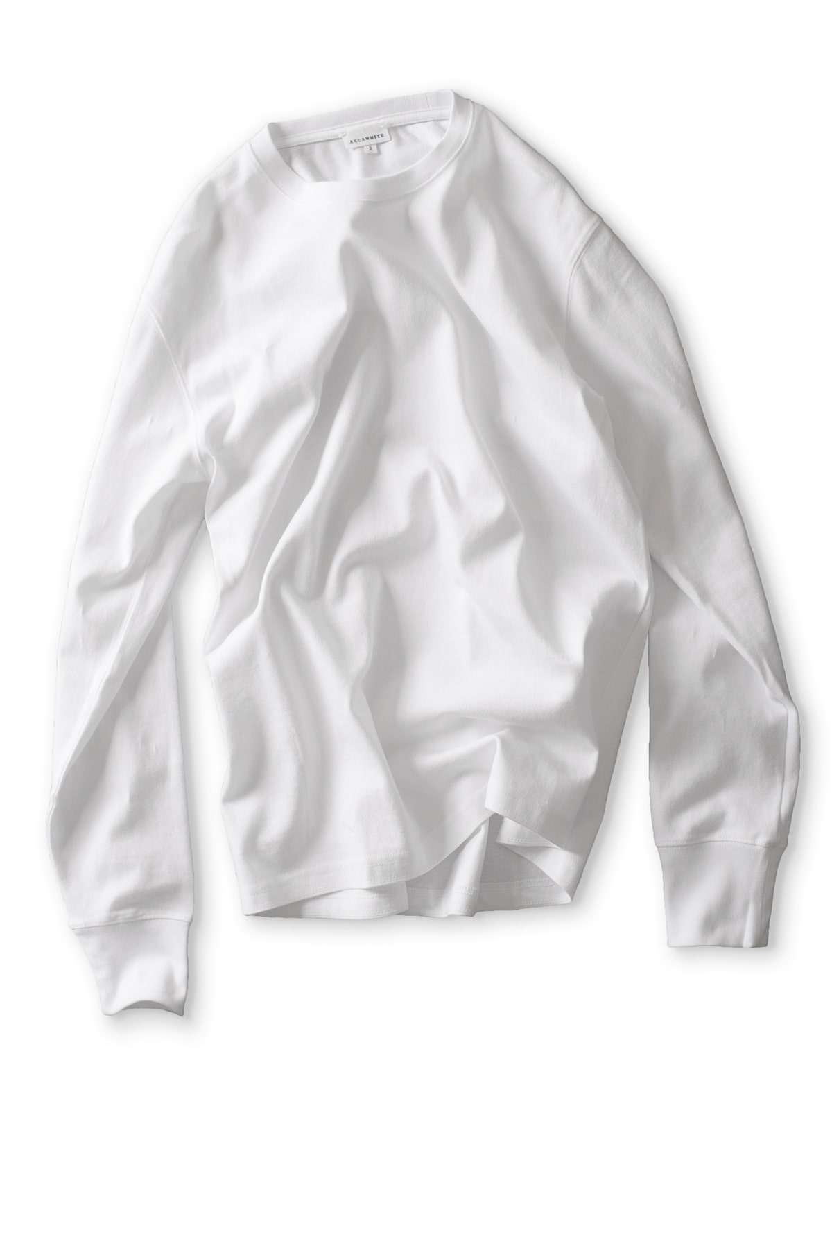 AECA WHITE : Long Sleeve Tee (White)