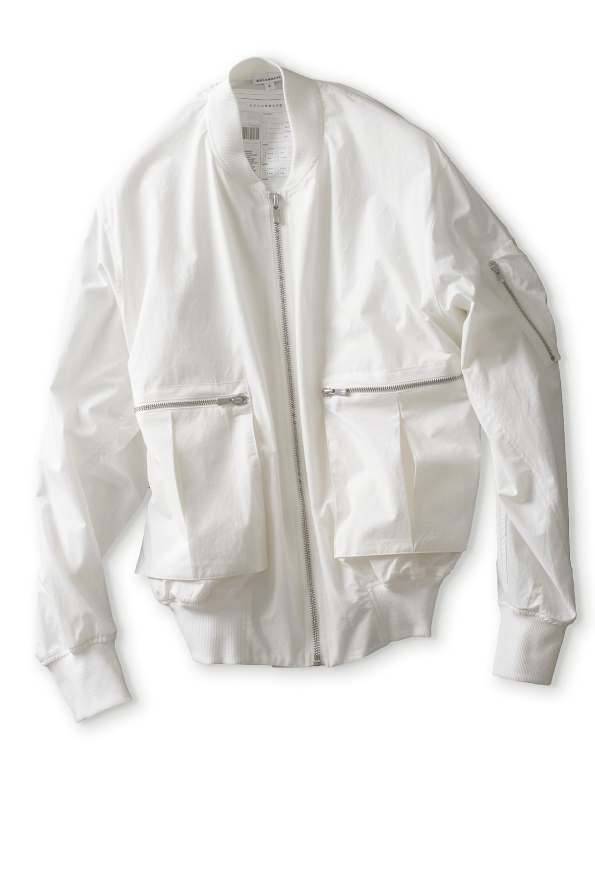 AECA WHITE : Pocket Cotton MA1 (Ivory)