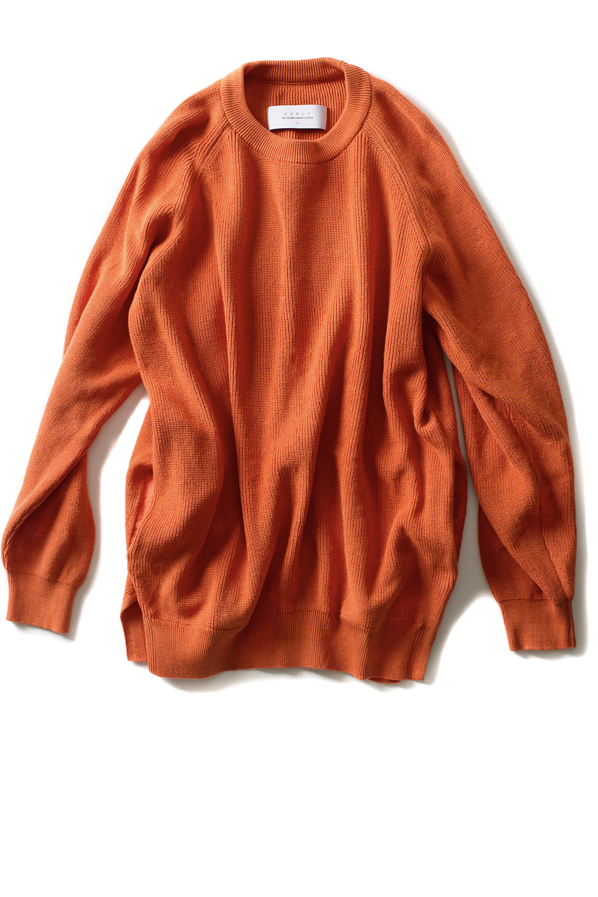 Curly : Assembly Crew Knit (Orange)
