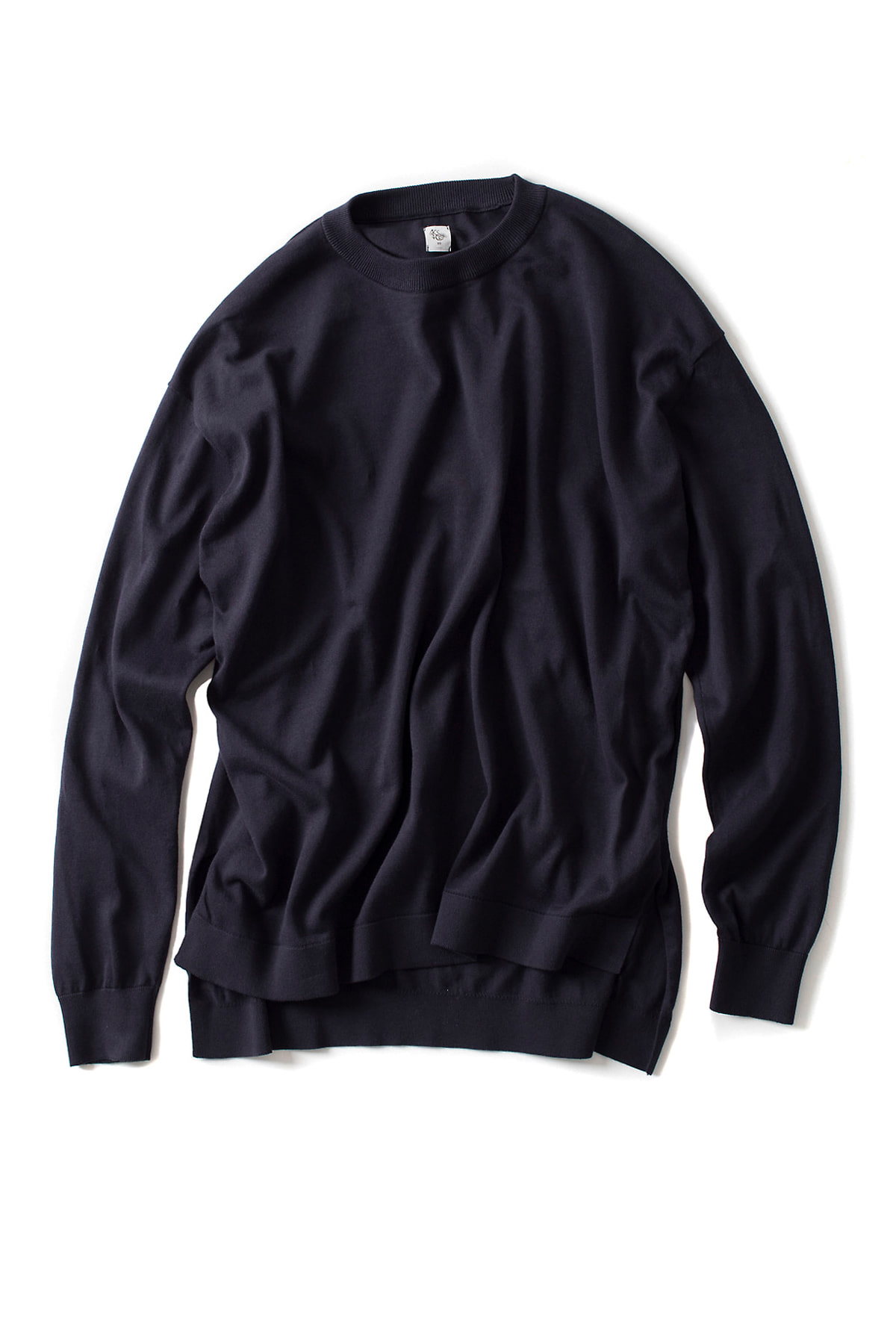 Kaptain Sunshine : Crewneck Long Sleeved Pullover knit (Navy)