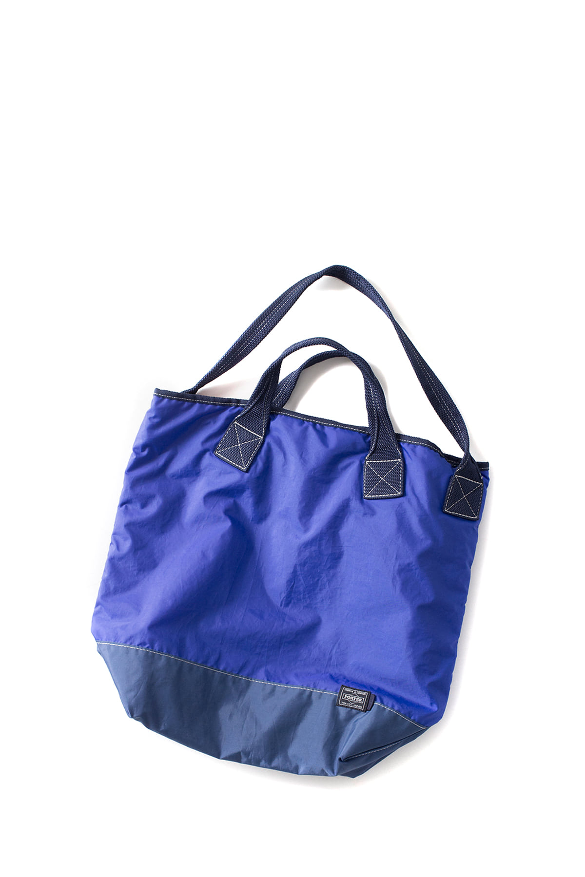 Kaptain Sunshine : Washed Military Nylon Tote (Blue)