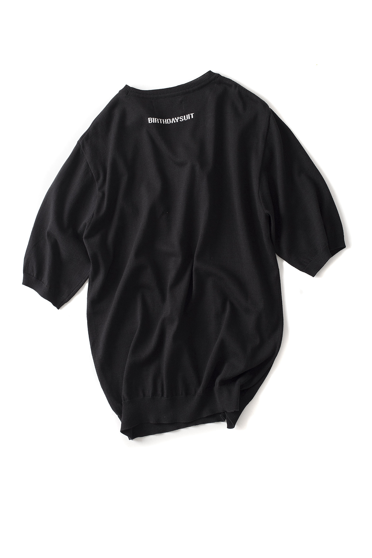 BIRTHDAYSUIT : Back Logo Modal R.Neck Knit (Black)