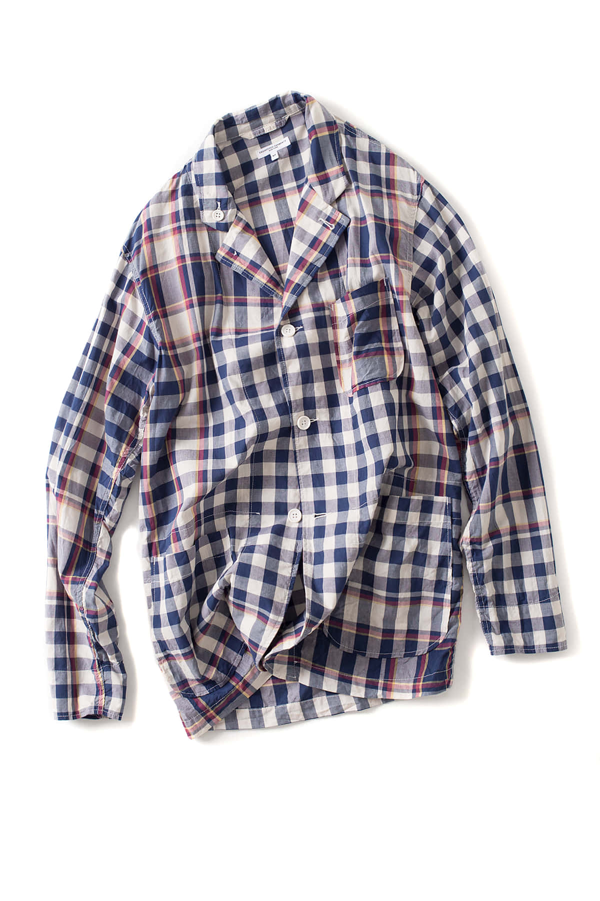 Engineered Garments : Loiter Jacket (Navy/Red/Yellow Big Plaid Modras)